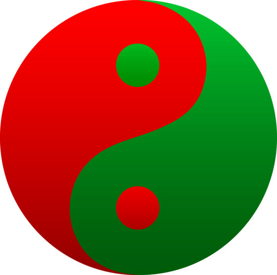 Red and Green Yin Yang