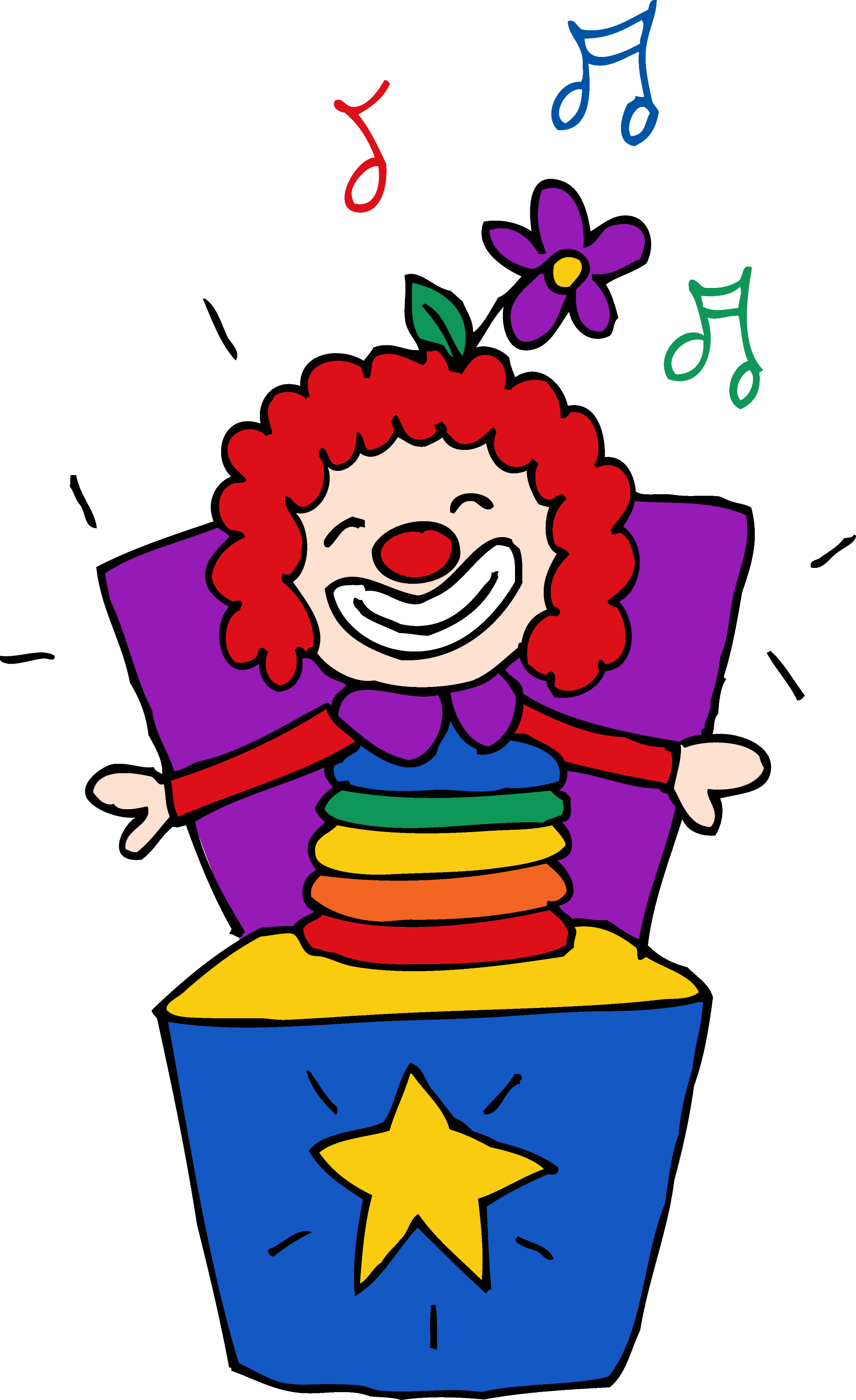 Colorful Jack in the Box Clipart Free Clip Art