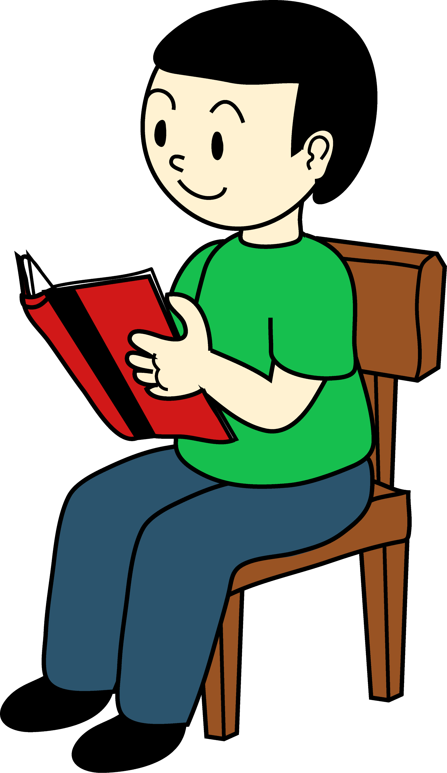 boy sitting on chair reading free clip art rh sweetclipart com baby sitting clipart sitting clipart images