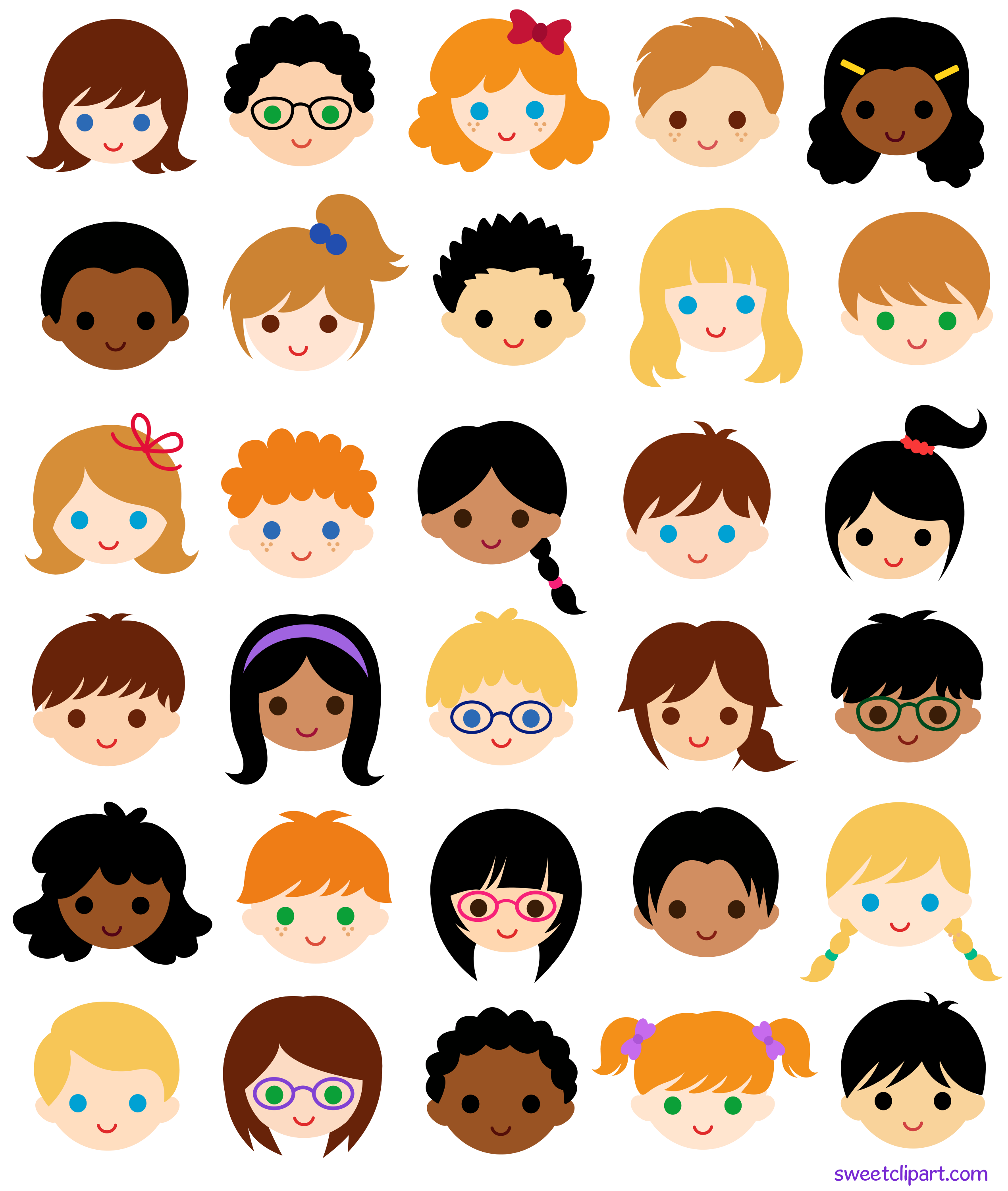 30 kids faces in school classroom free clip art rh sweetclipart com