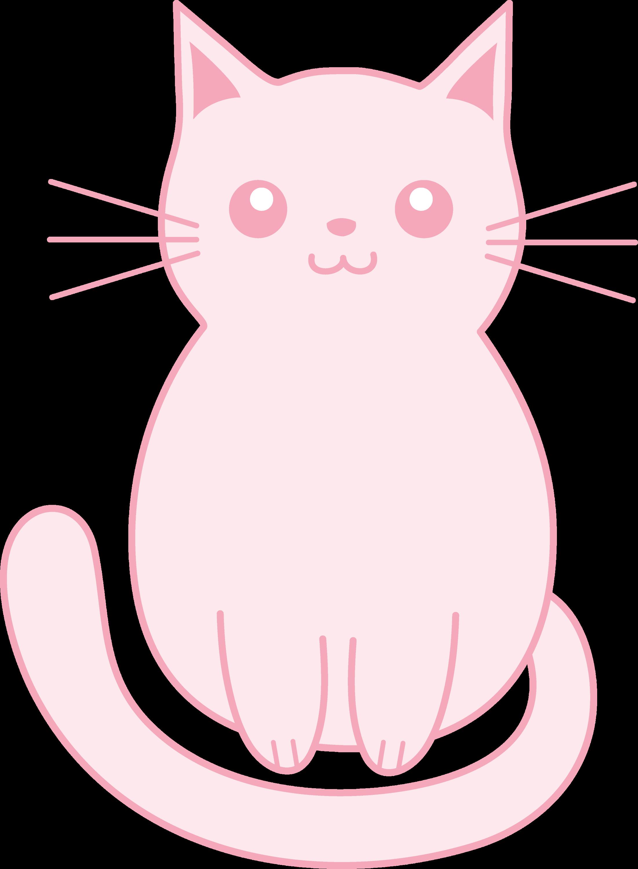 Cute Pink Kitten Clip Art - Free Clip Art
