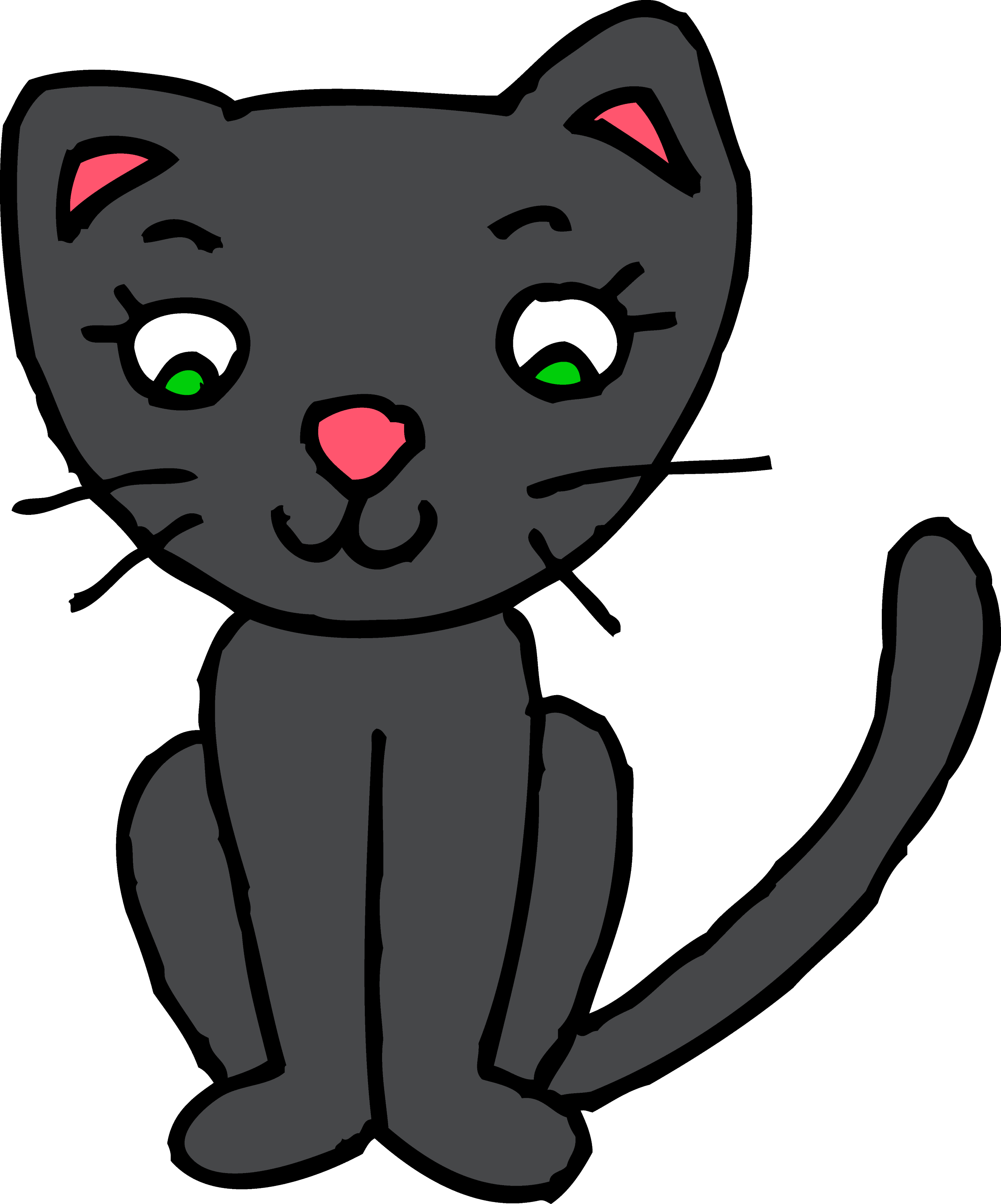cute black kitty cat clipart free clip art rh sweetclipart com kitty cat clipart kitty cat clipart black and white