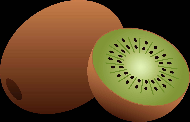 whole and half kiwi fruit free clip art rh sweetclipart com clipart kiwi fruit kiwi clipart black and white