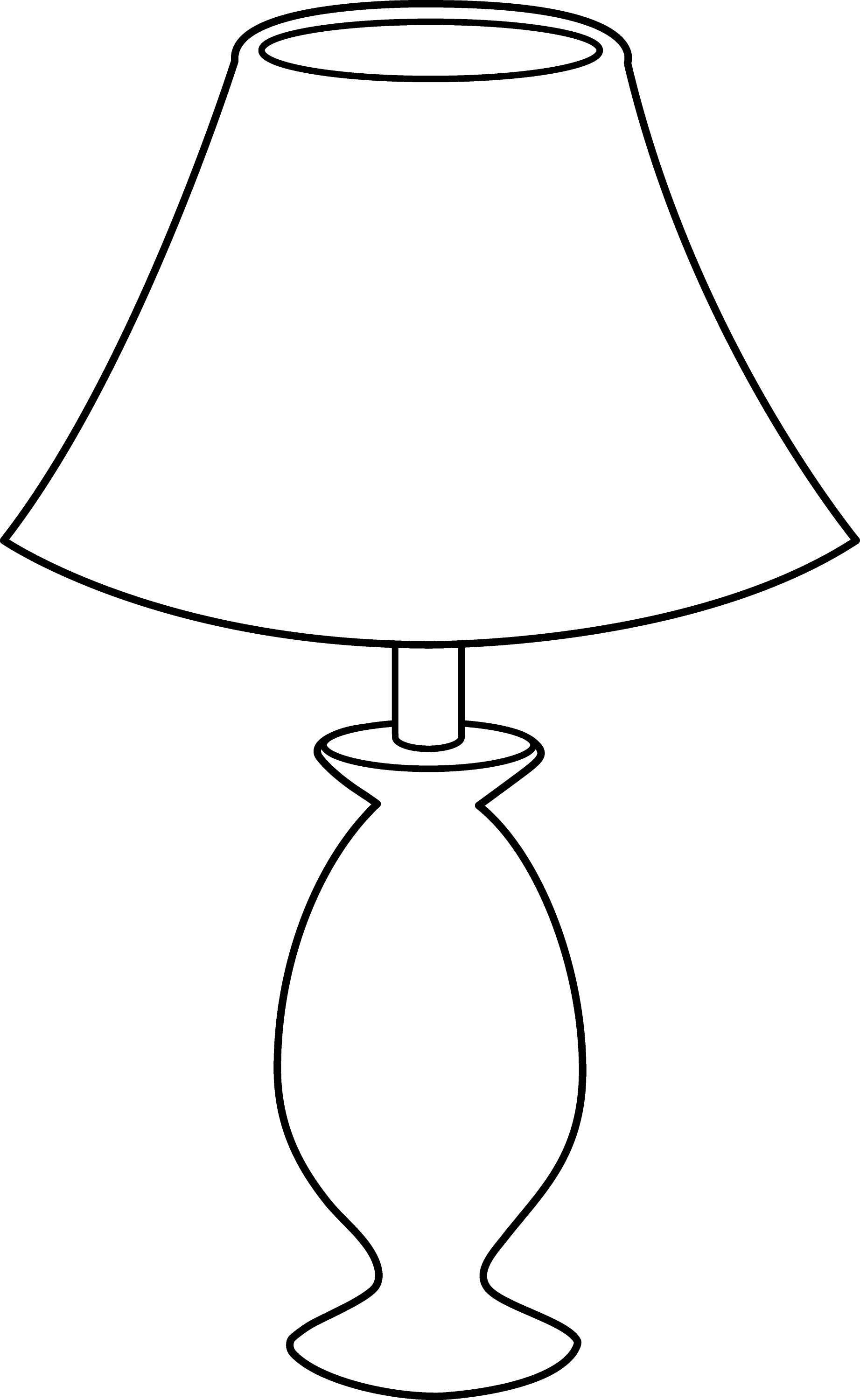 Black And White Lamp Line Art Free Clip Art