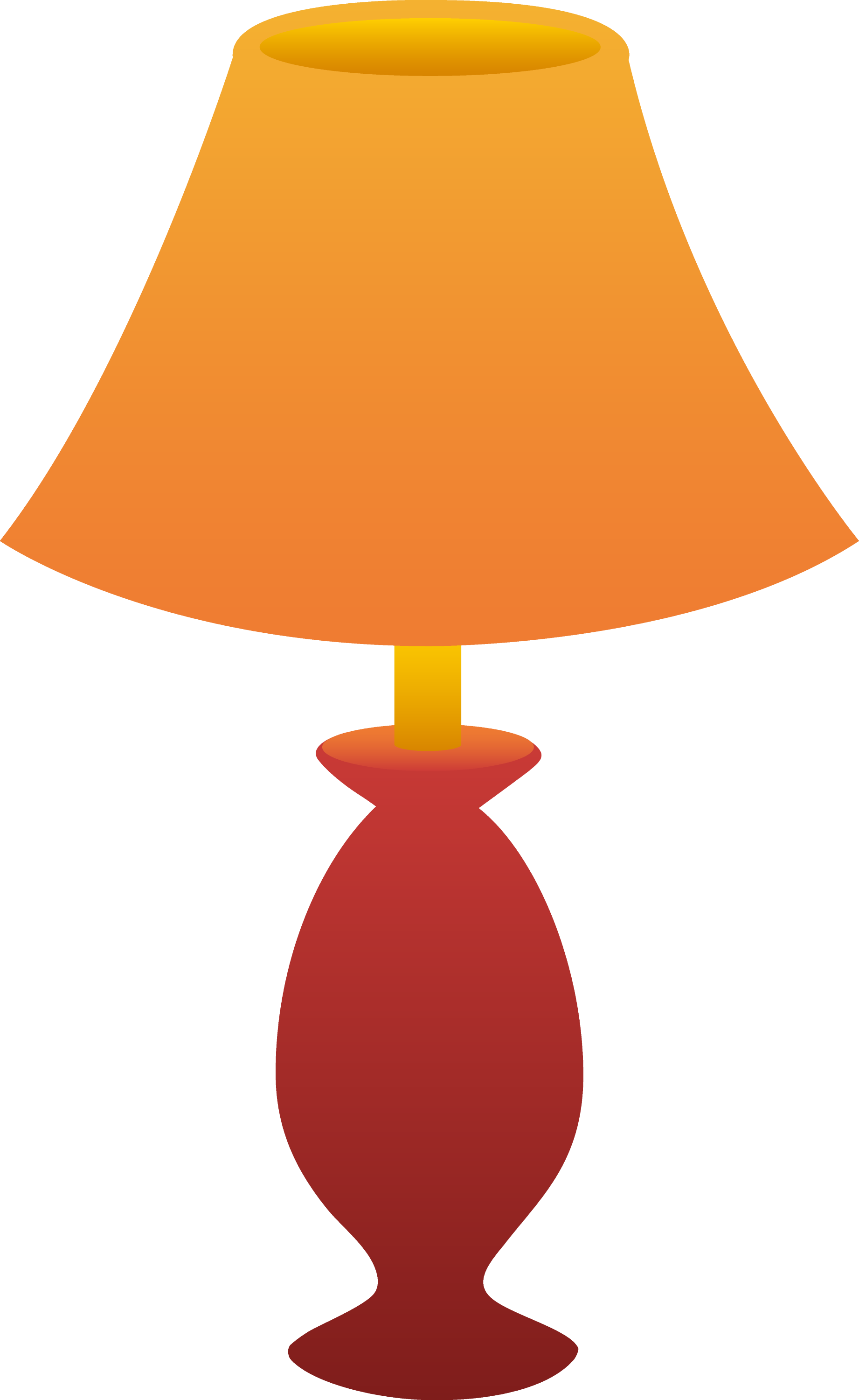 Red Table Lamp - Free Clip Art