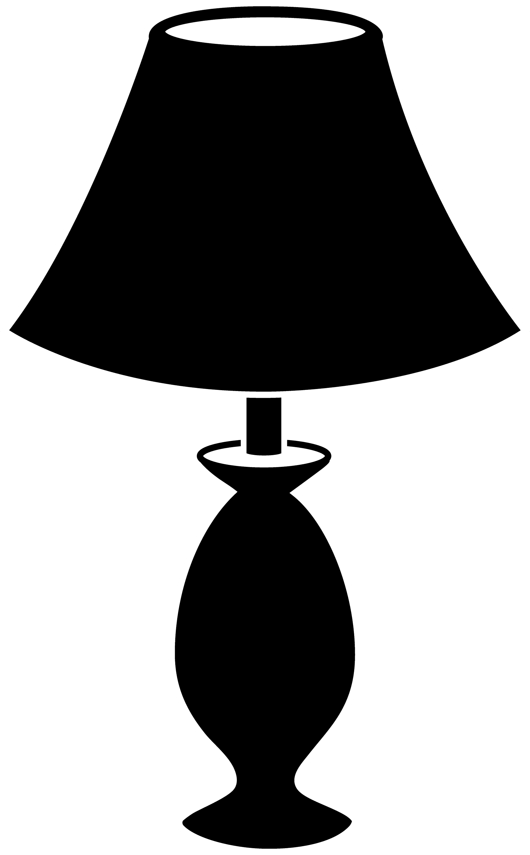 Black Lamp Silhouette - Free Clip Art for Lamp Shade Clip Art  110zmd