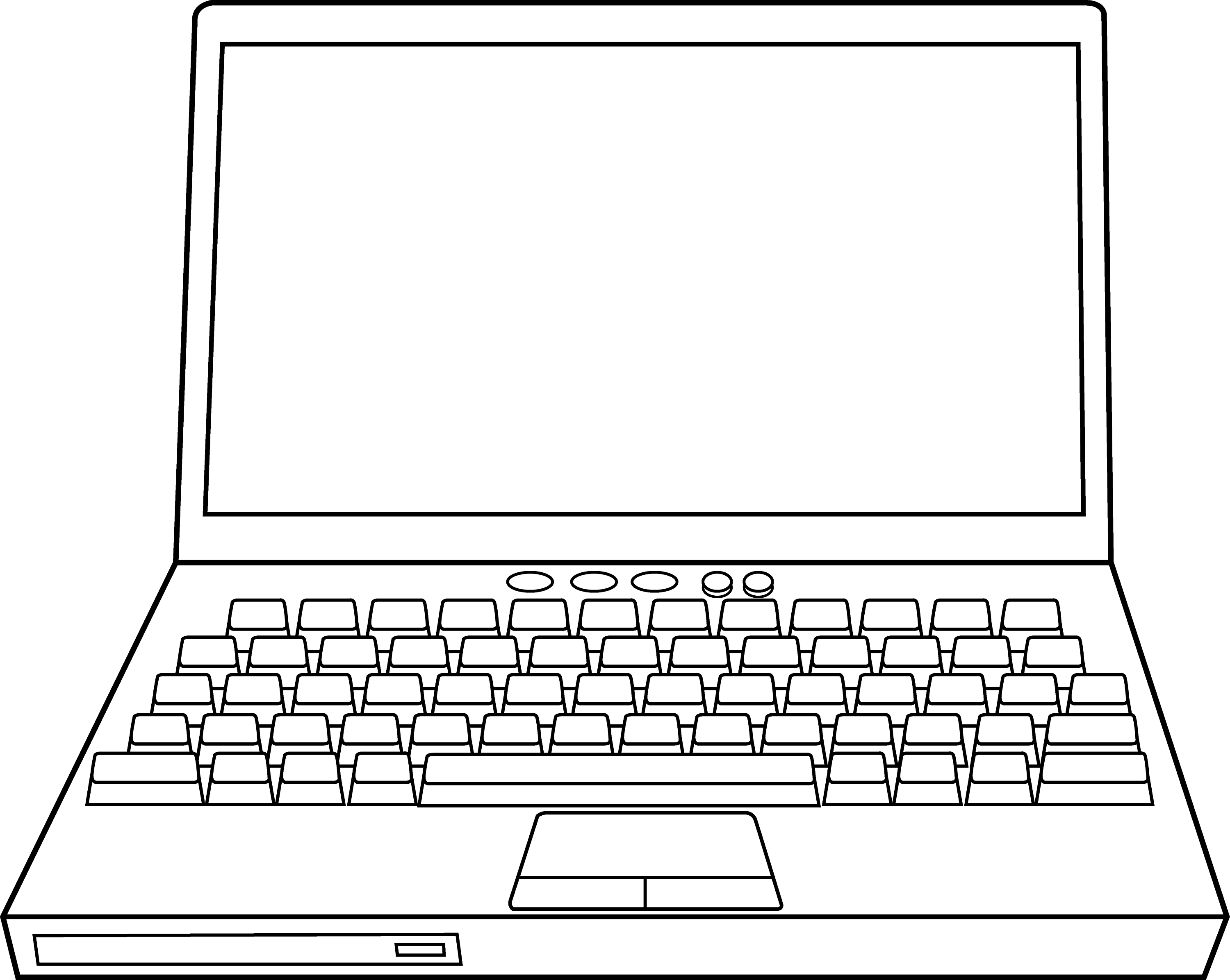 Line Drawing Keyboard : Free coloring pages of pc personal computer