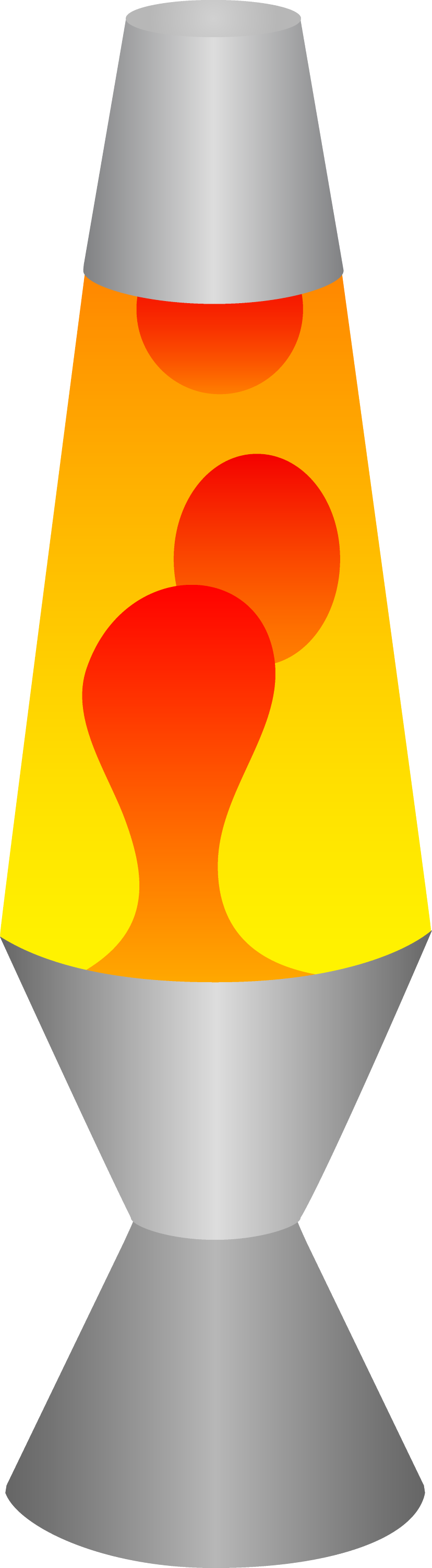 Red And Yellow Lava Lamp Free Clip Art