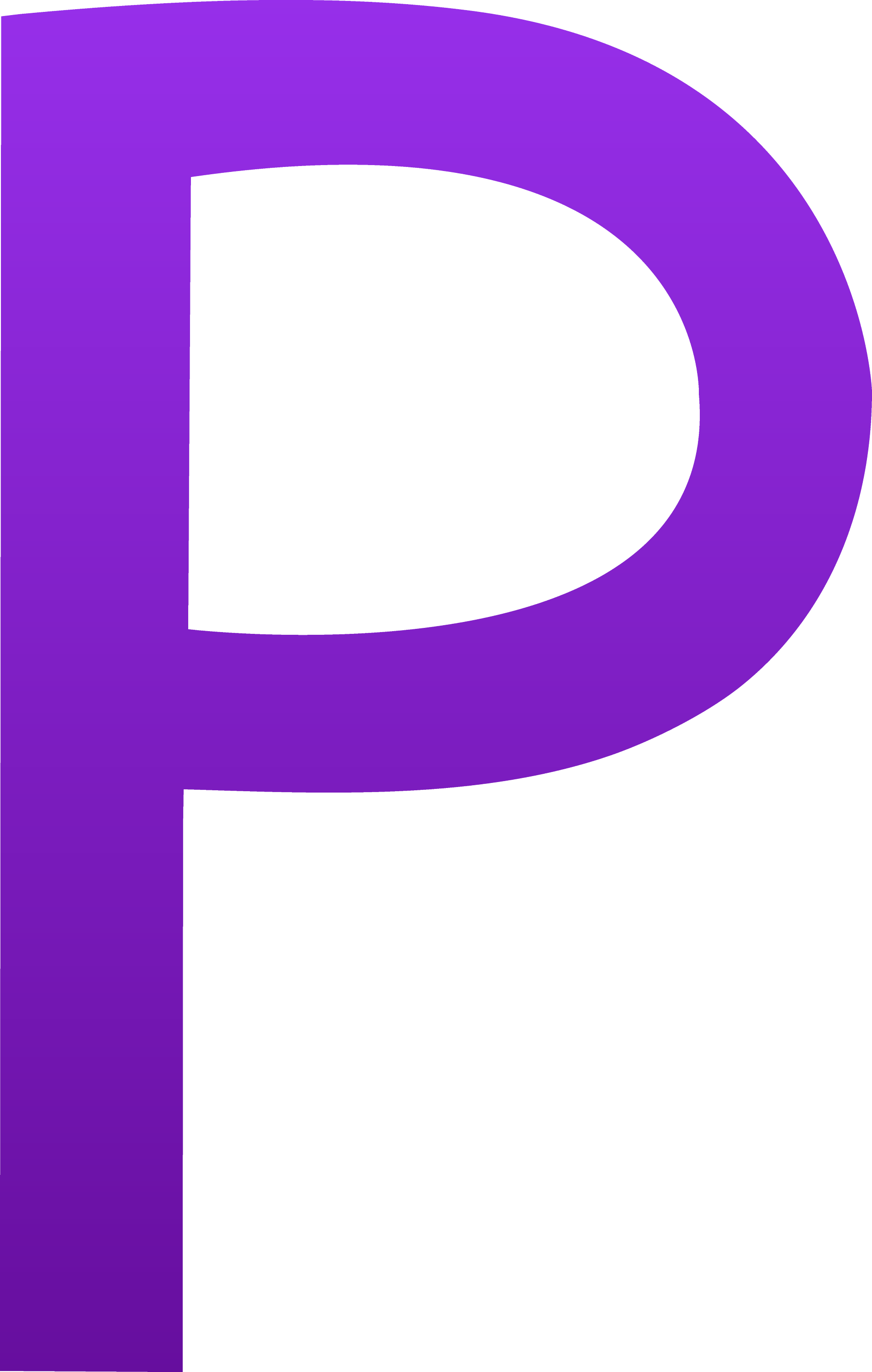 Purple Letter P The letter p
