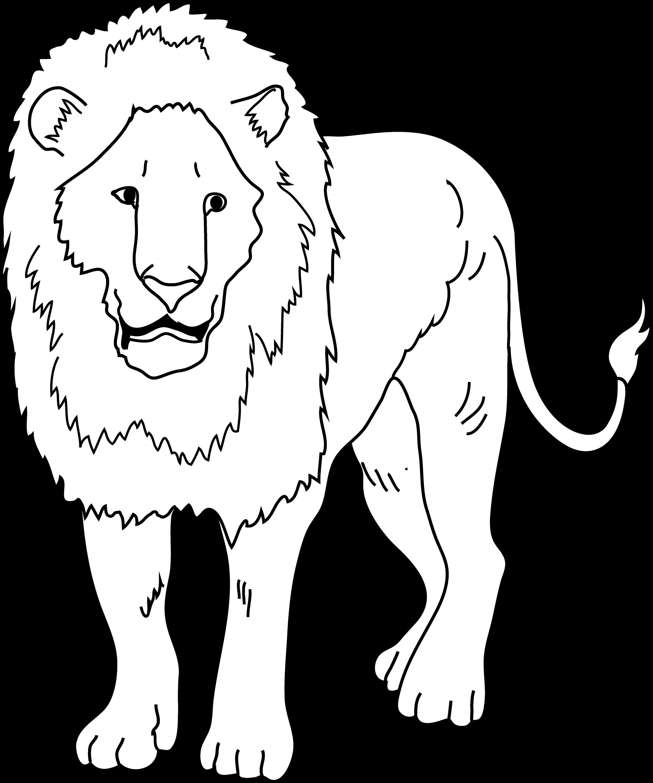 Lion Coloring Page - Free Clip Art
