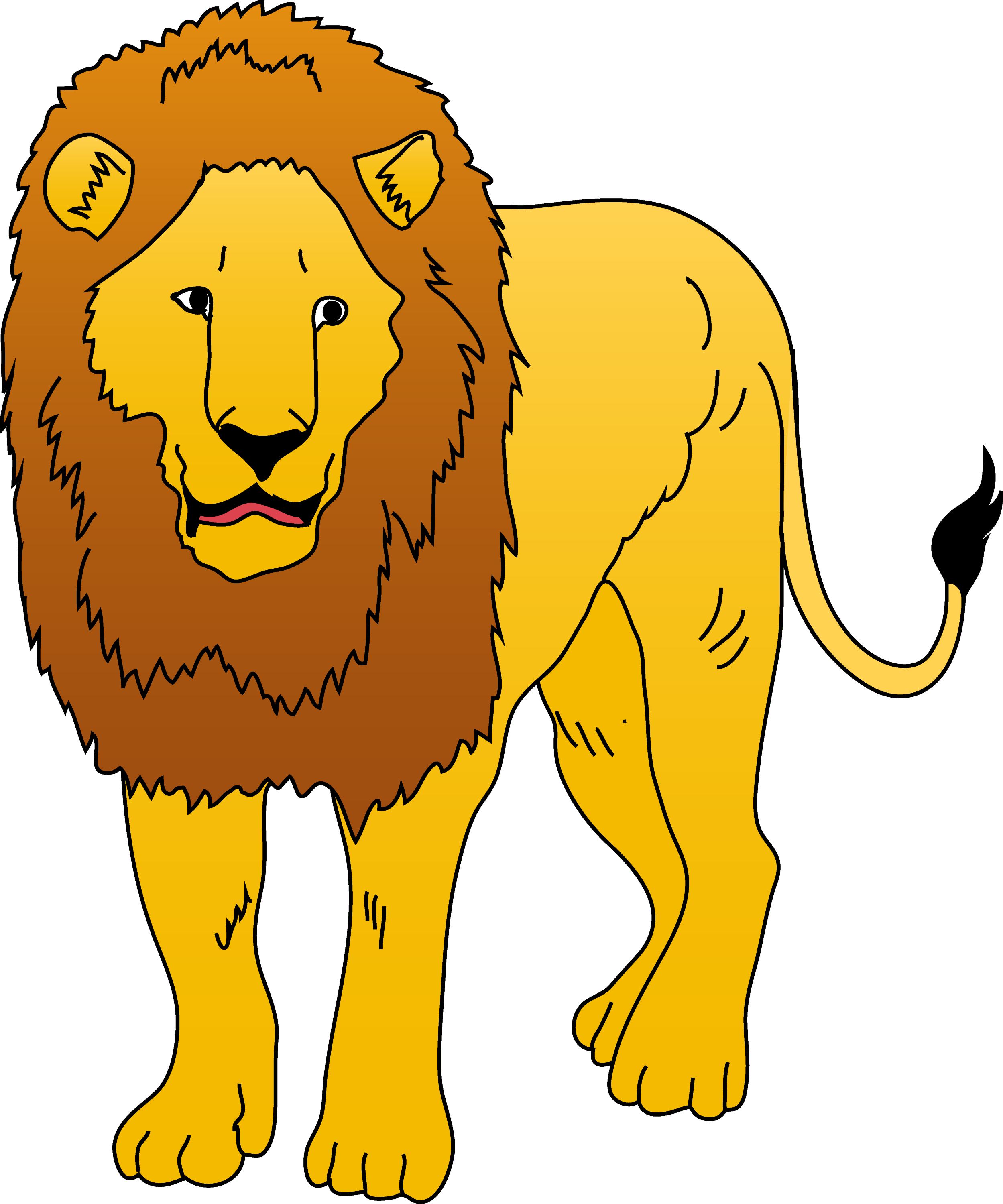 Zoo Animals Clip Art Border Golden Lion Clipart Il...