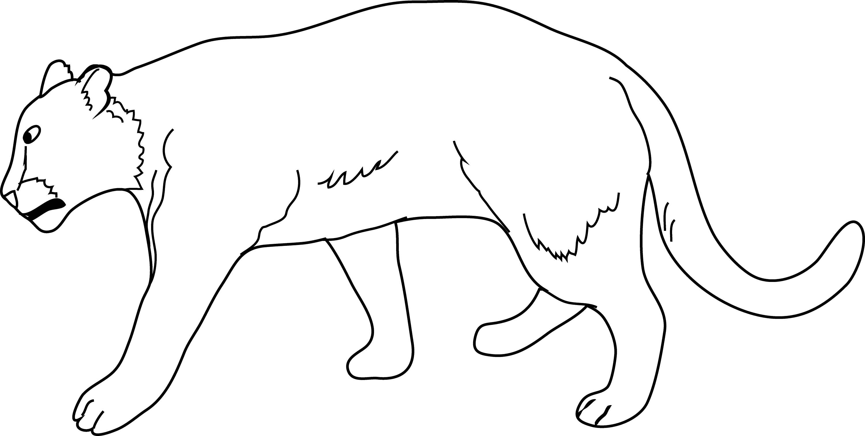 Lioness Coloring Page - Free Clip Art