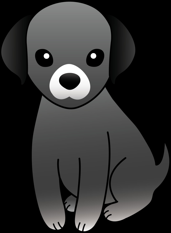 Little Gray Puppy - Free Clip Art