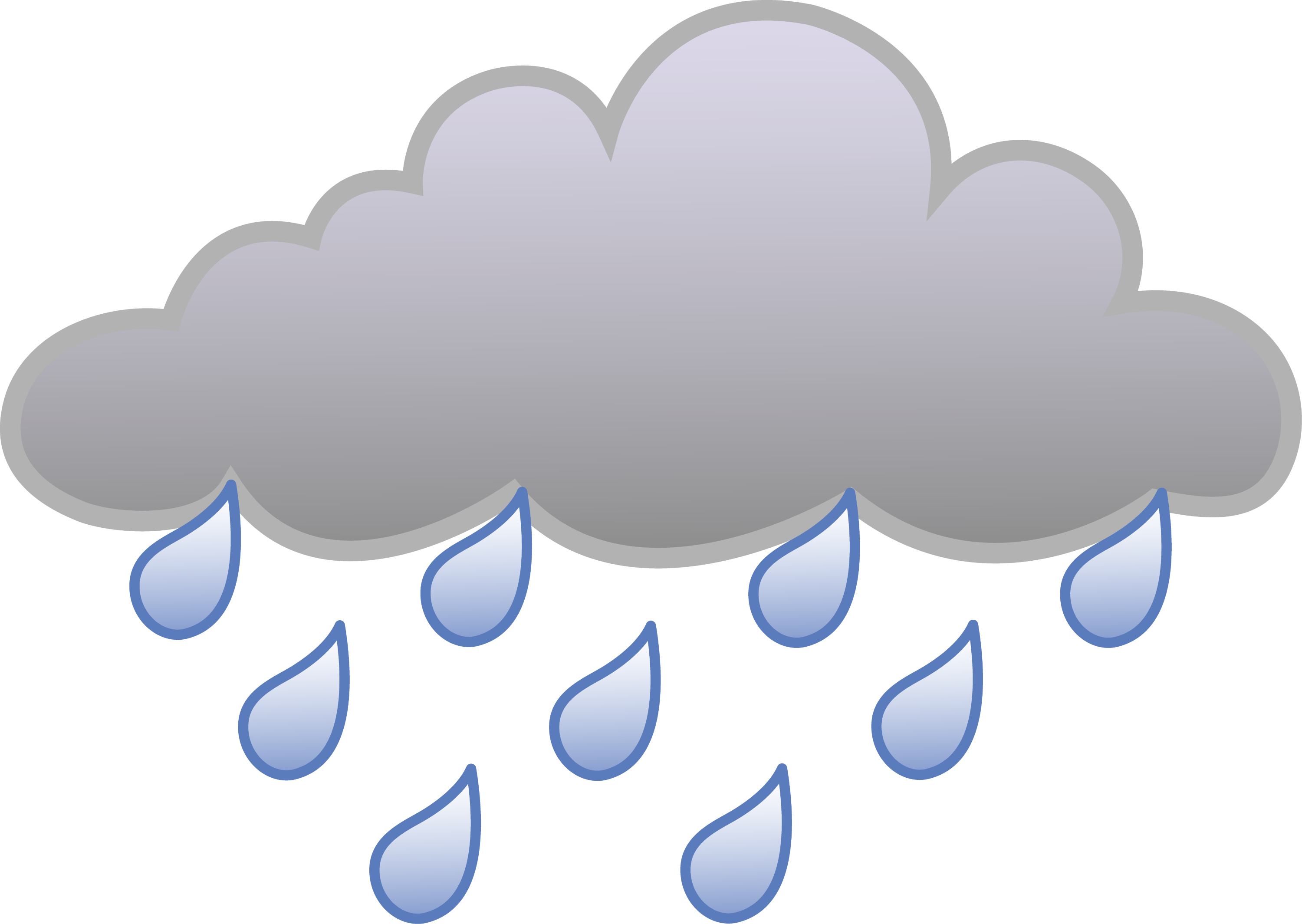 Cartoon Rain Cloud Clip Art