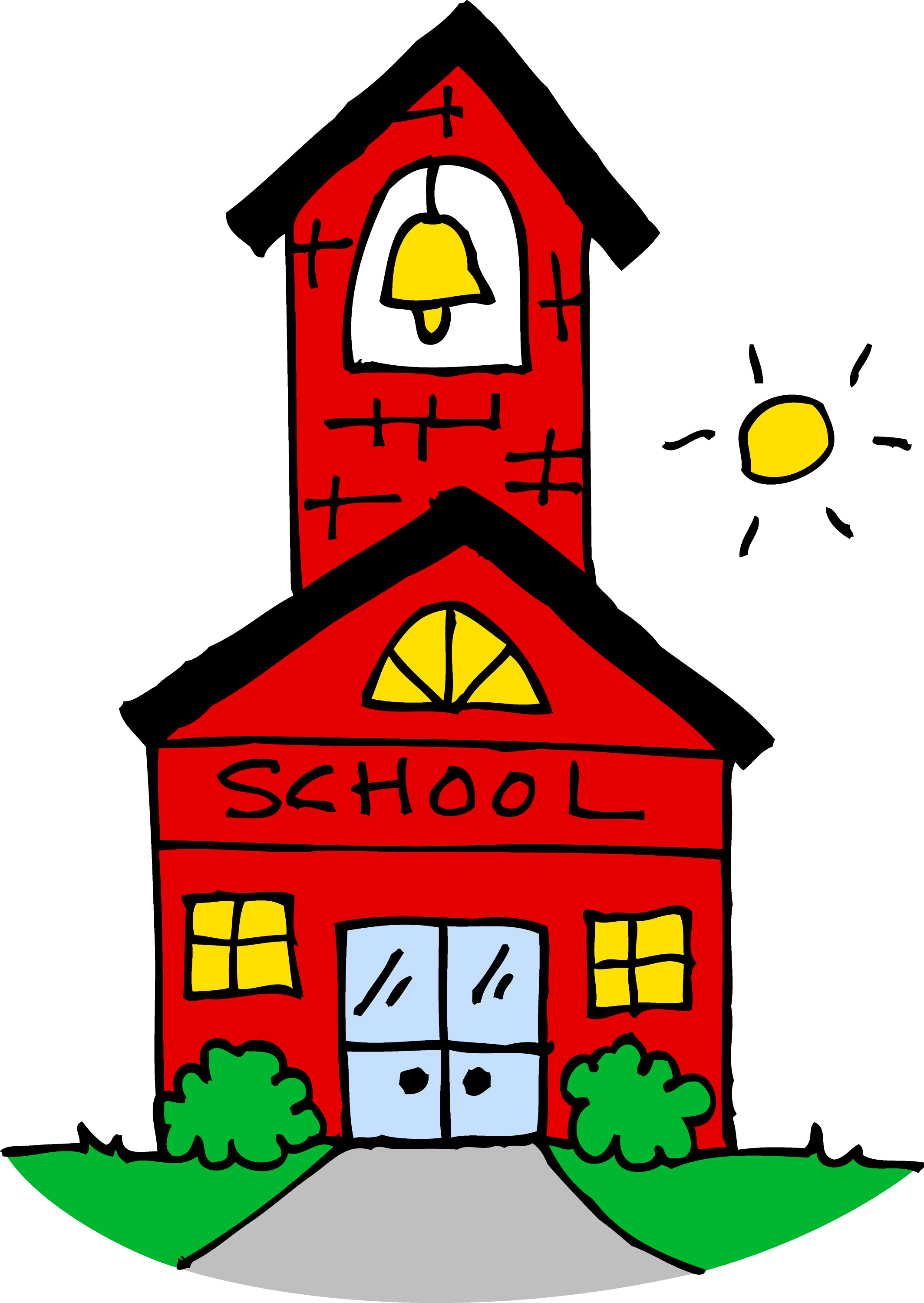 cute school house clipart free clip art rh sweetclipart com school clipart images black and white school clipart free download