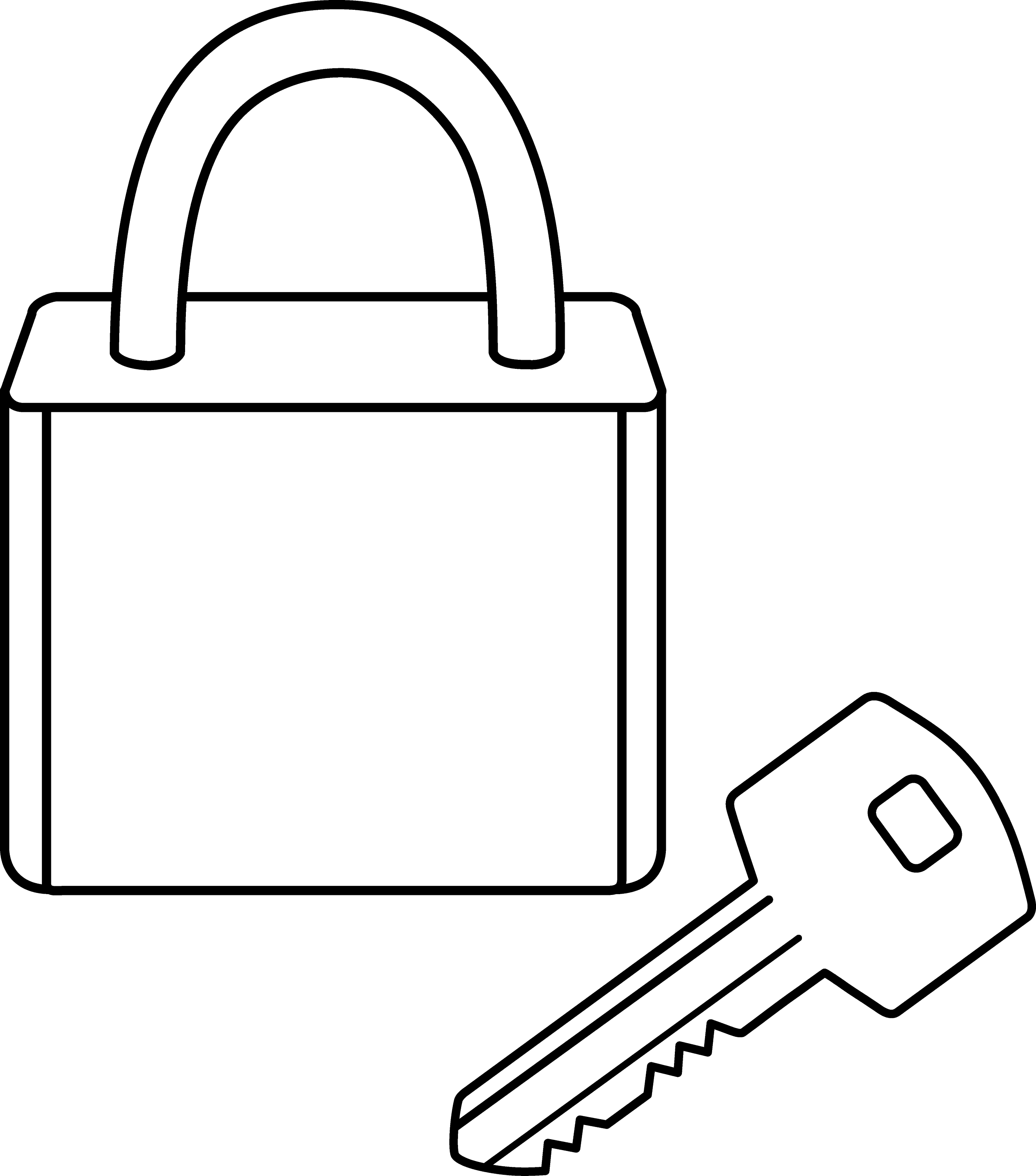 Line Drawing Key : Lock key clipart pixshark images galleries