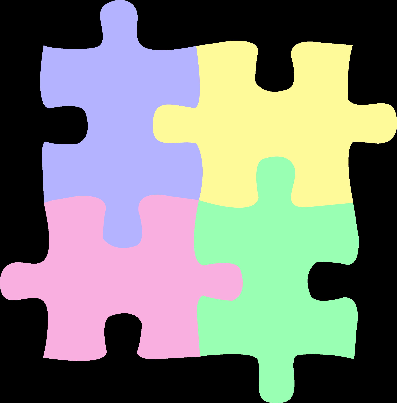 four pastel colored puzzle pieces free clip art rh sweetclipart com  free clipart images puzzle pieces
