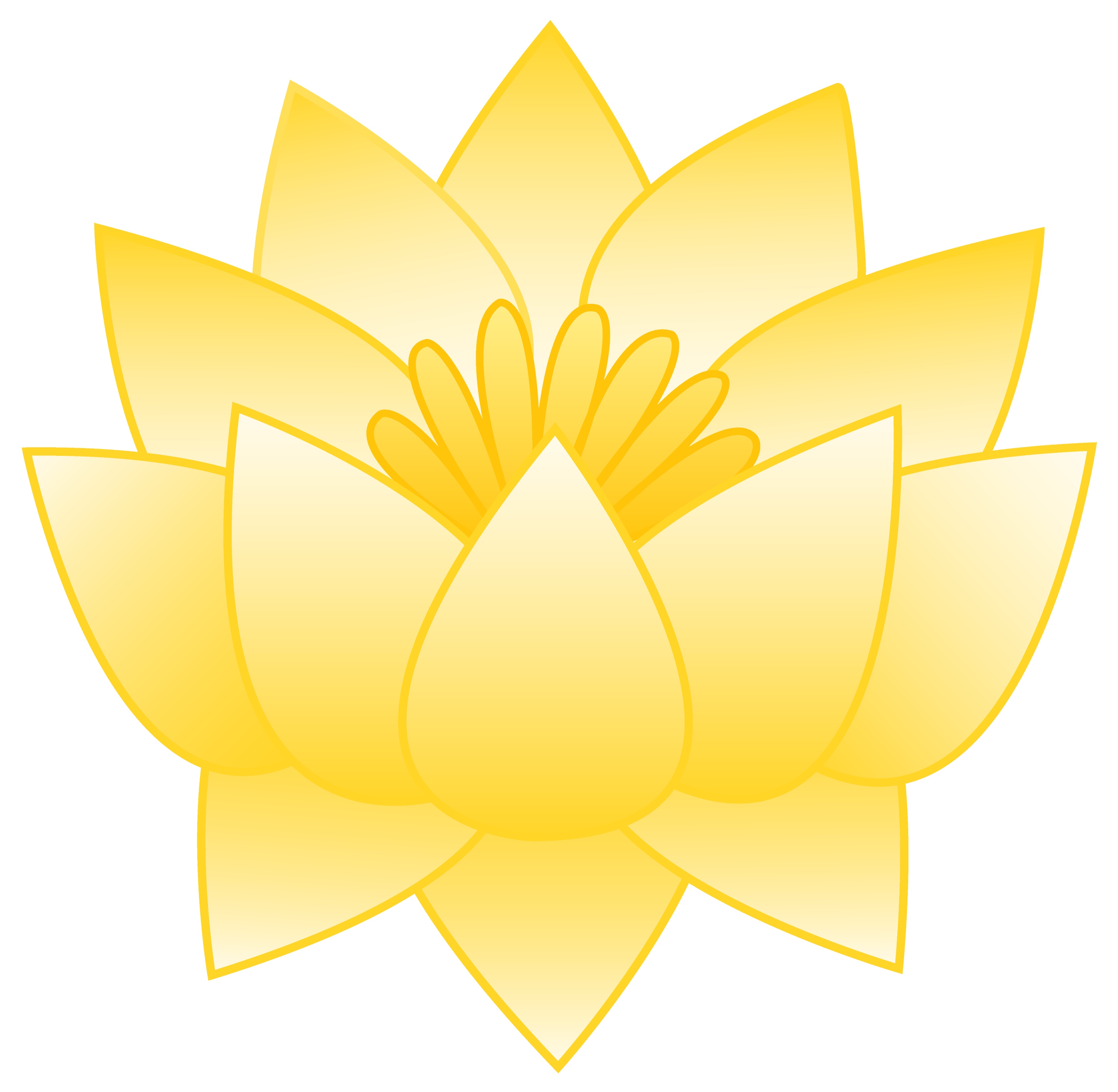 Yellow Lotus Flower Free Clip Art