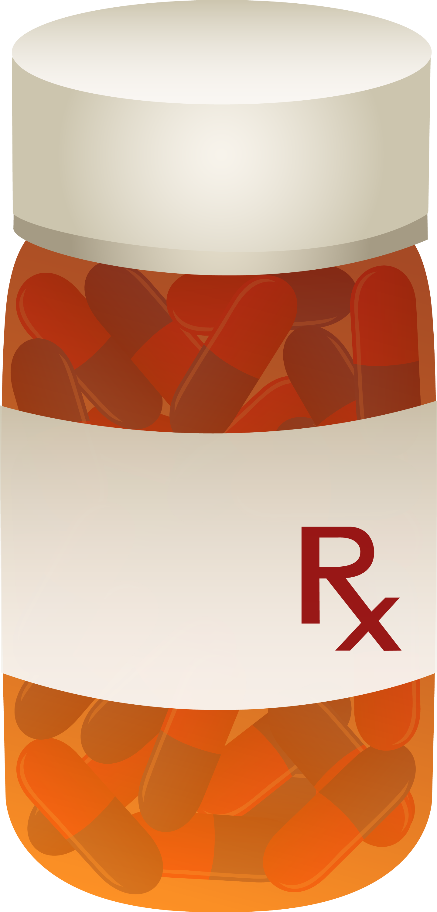 Bottle of Prescription Pills - Free Clip Art