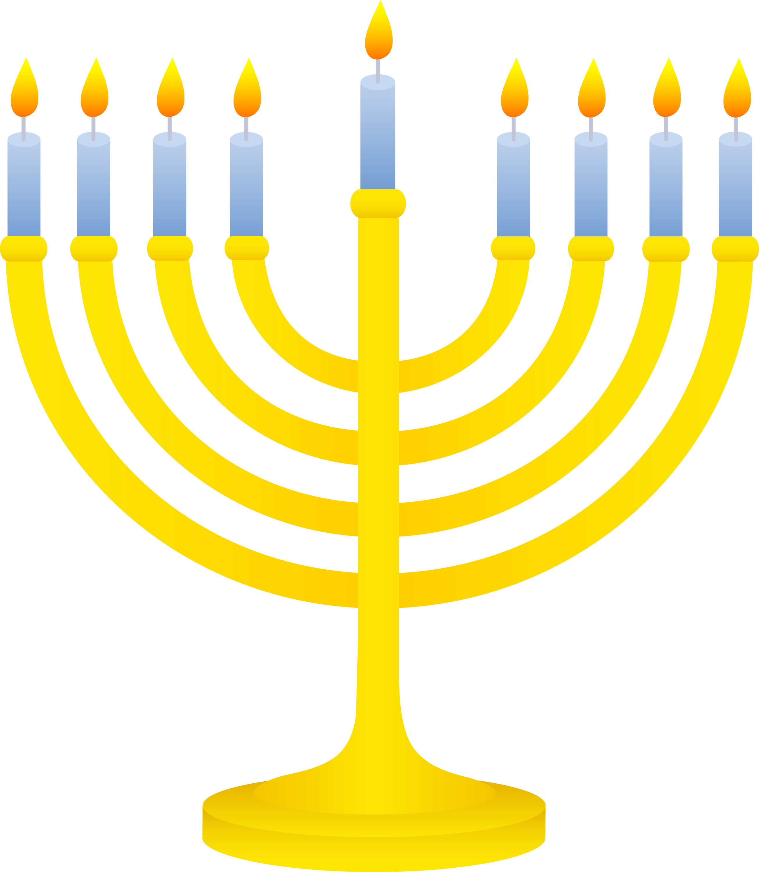 golden menorah with lit candles free clip art menorah clipart black and white free menorah clip art images