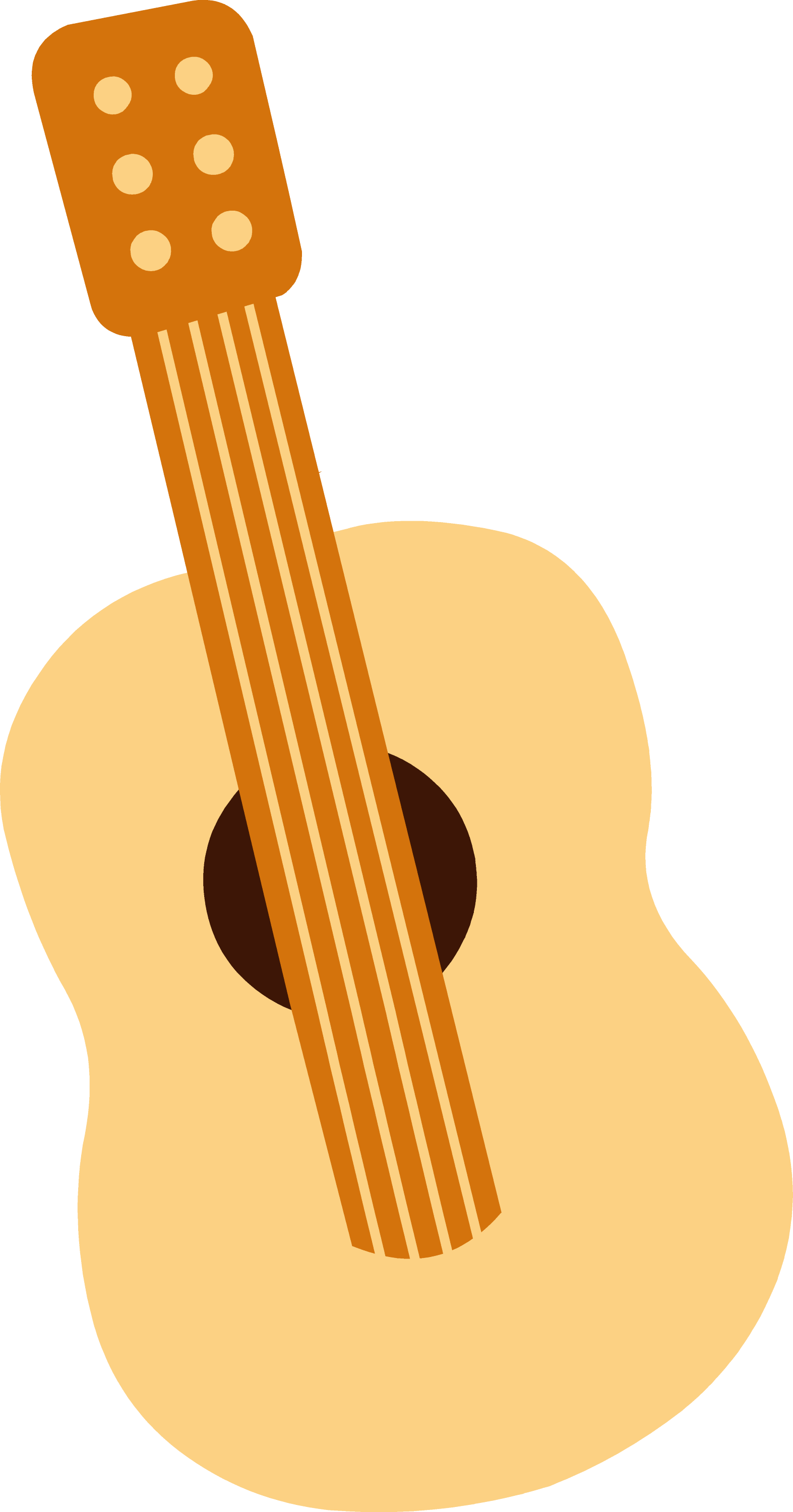 Cute Mini Toy Guitar Free Clip Art