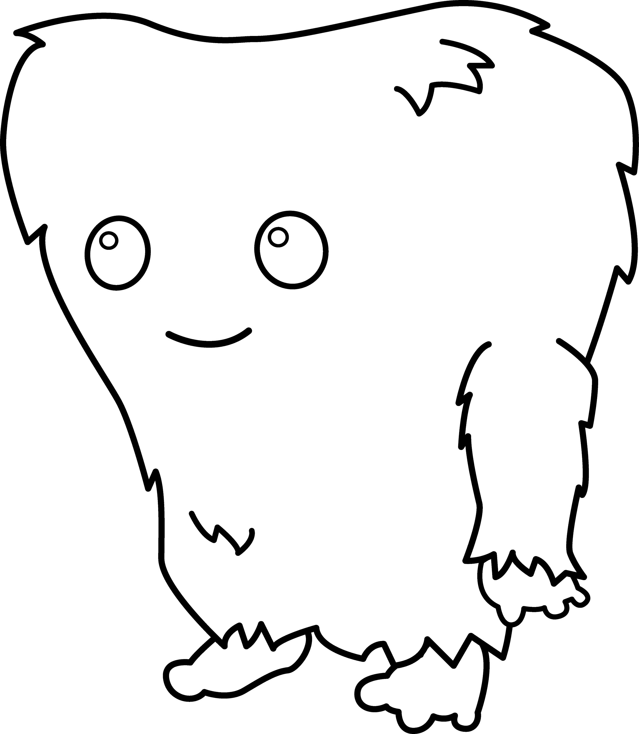 Line Drawing Monster : Cute colorable monster free clip art