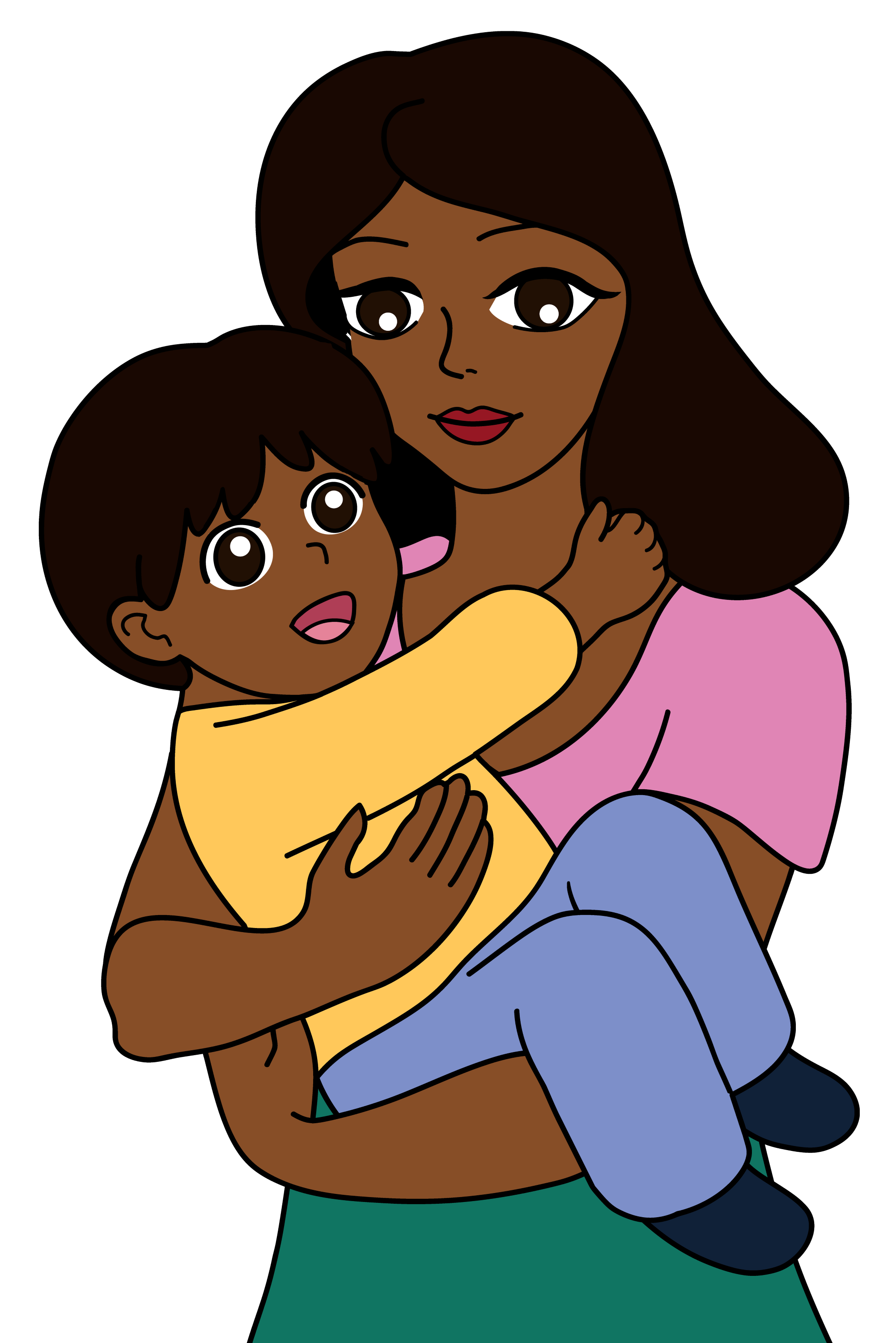 free clip art mother child - photo #1