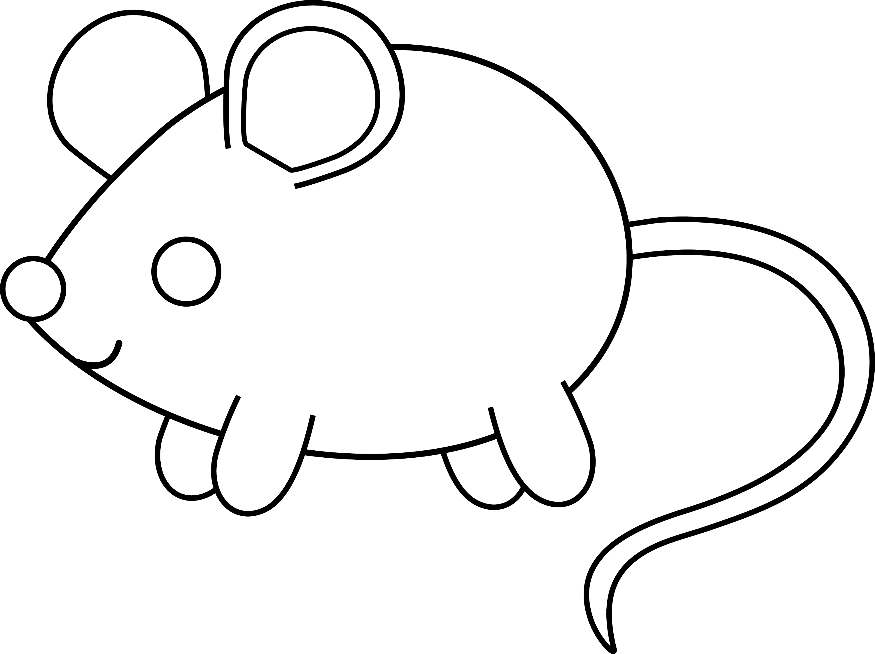 simple cartoon mice coloring pages - photo#17