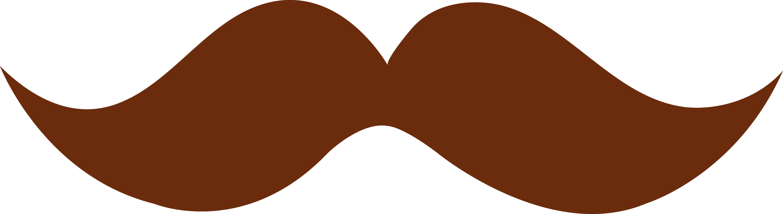 brown moustache design free clip art rh sweetclipart com moustache clipart image moustache clipart