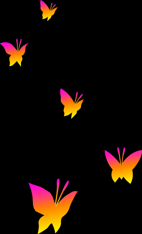 pink orange and yellow butterflies free clip art rh sweetclipart com transparent background clipart free clipart with transparent background