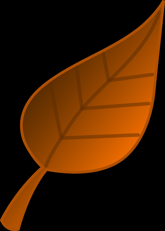 brown autumn leaf vector art free clip art