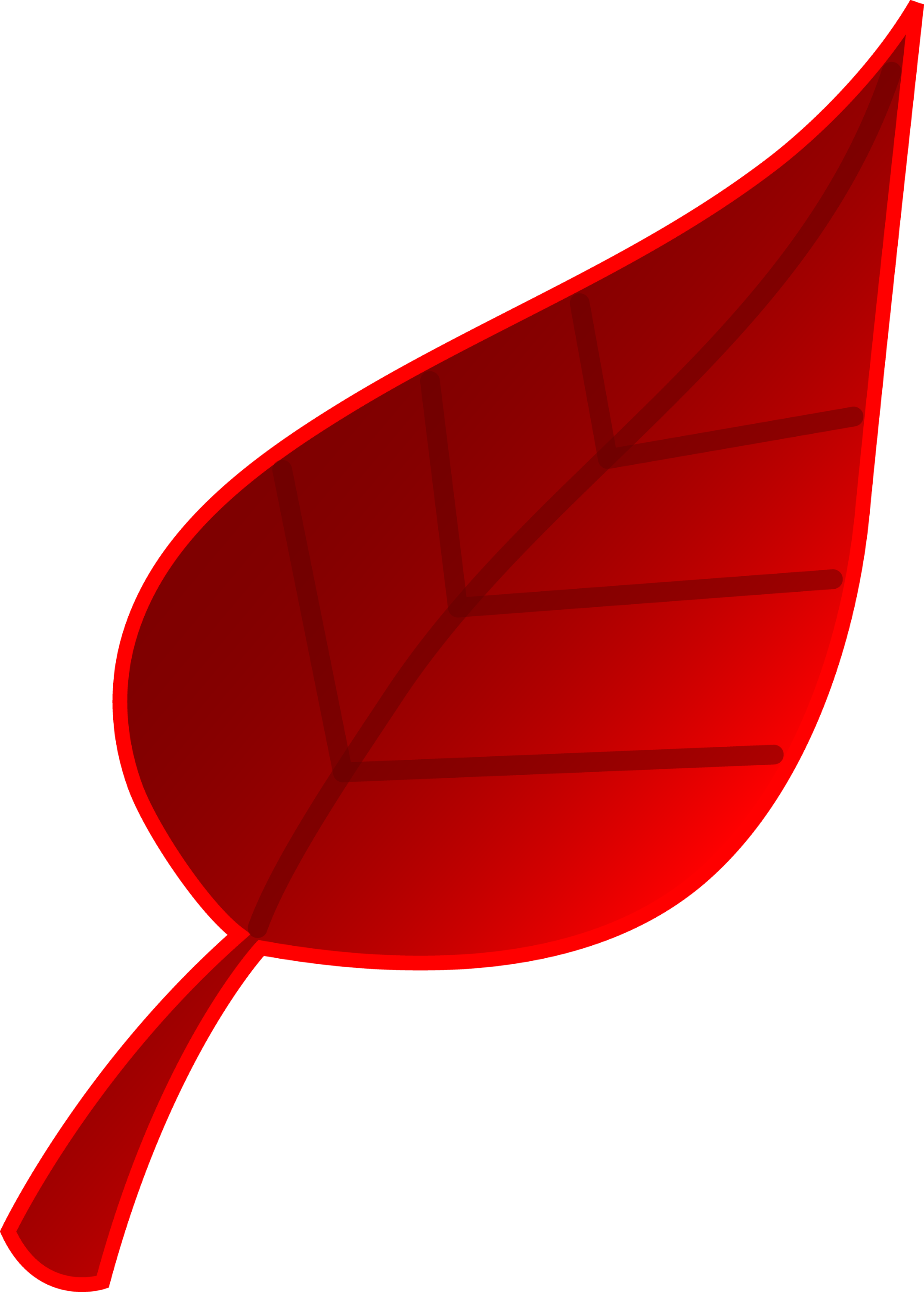 Red Tree Leaf Vector Art - Free Clip Art