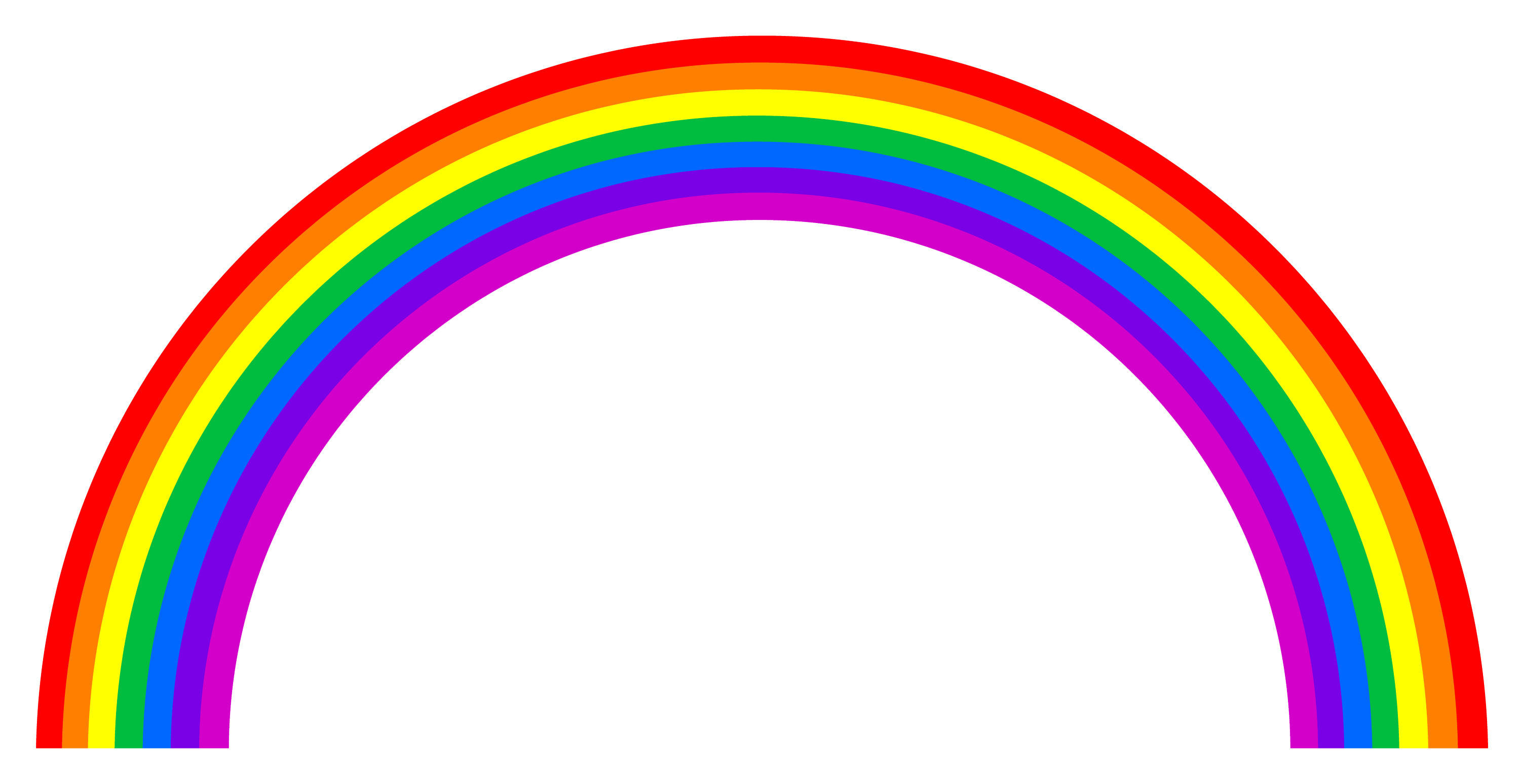 Simple colorful rainbow arc