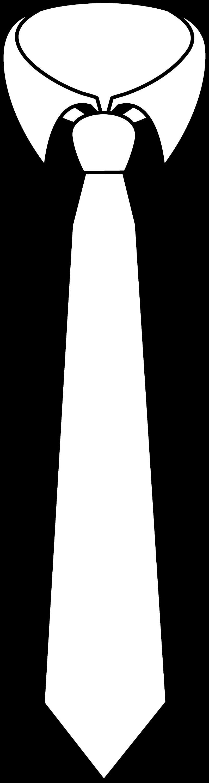 necktie coloring page free clip art