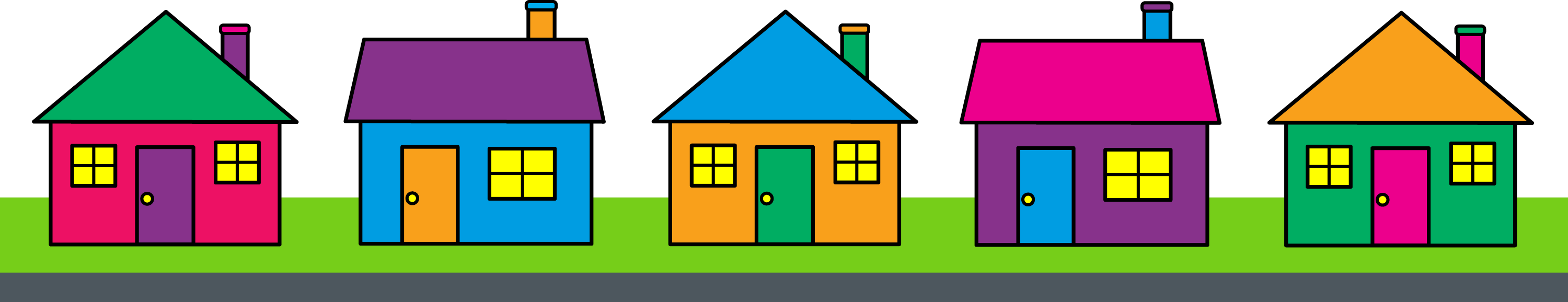 Incredible Neighborhood House Clip Art Free 10445 x 2014 · 126 kB · png