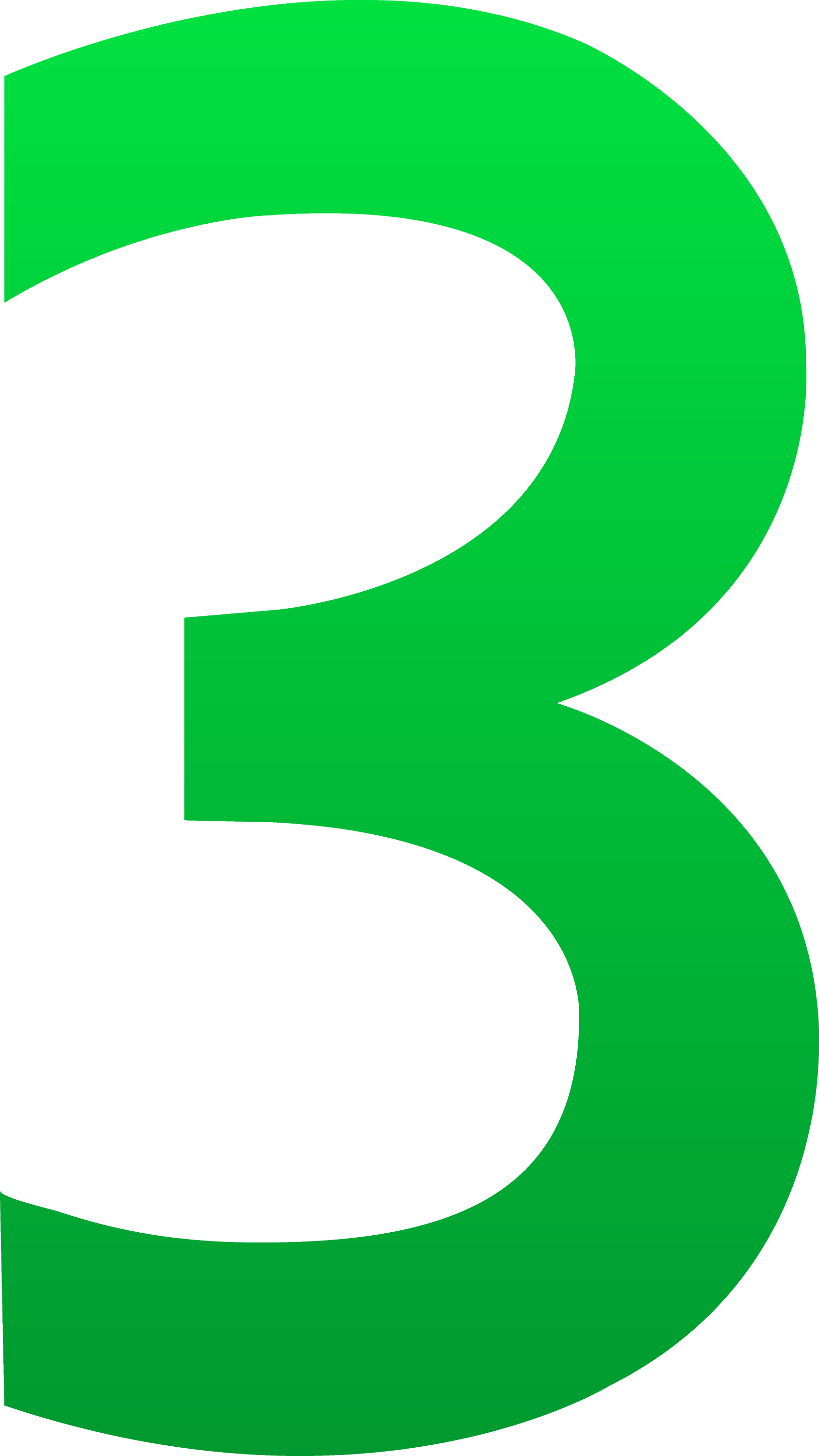The Number Three - Free Clip Art