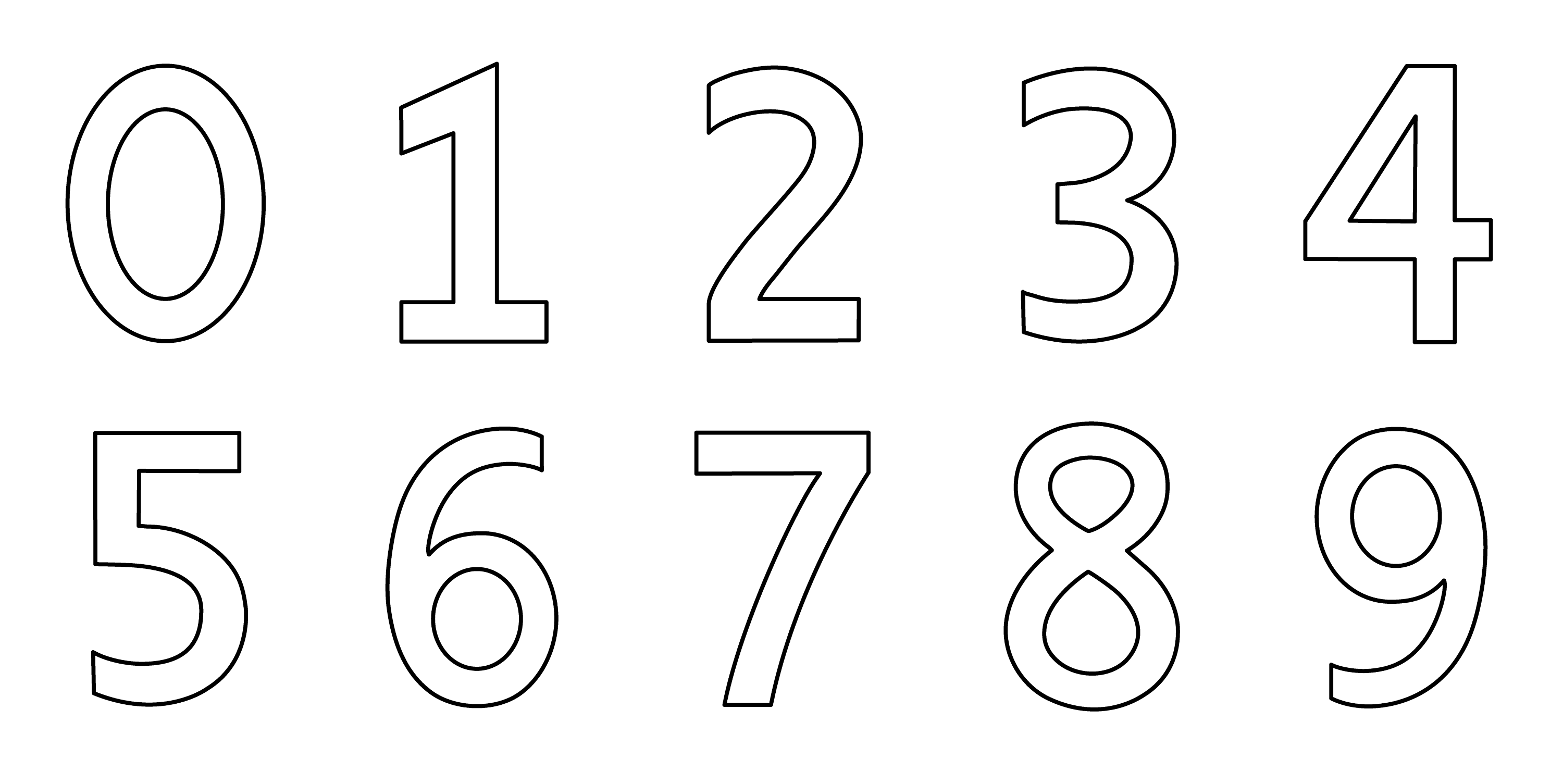 numbers coloring page - Number Coloring Pages