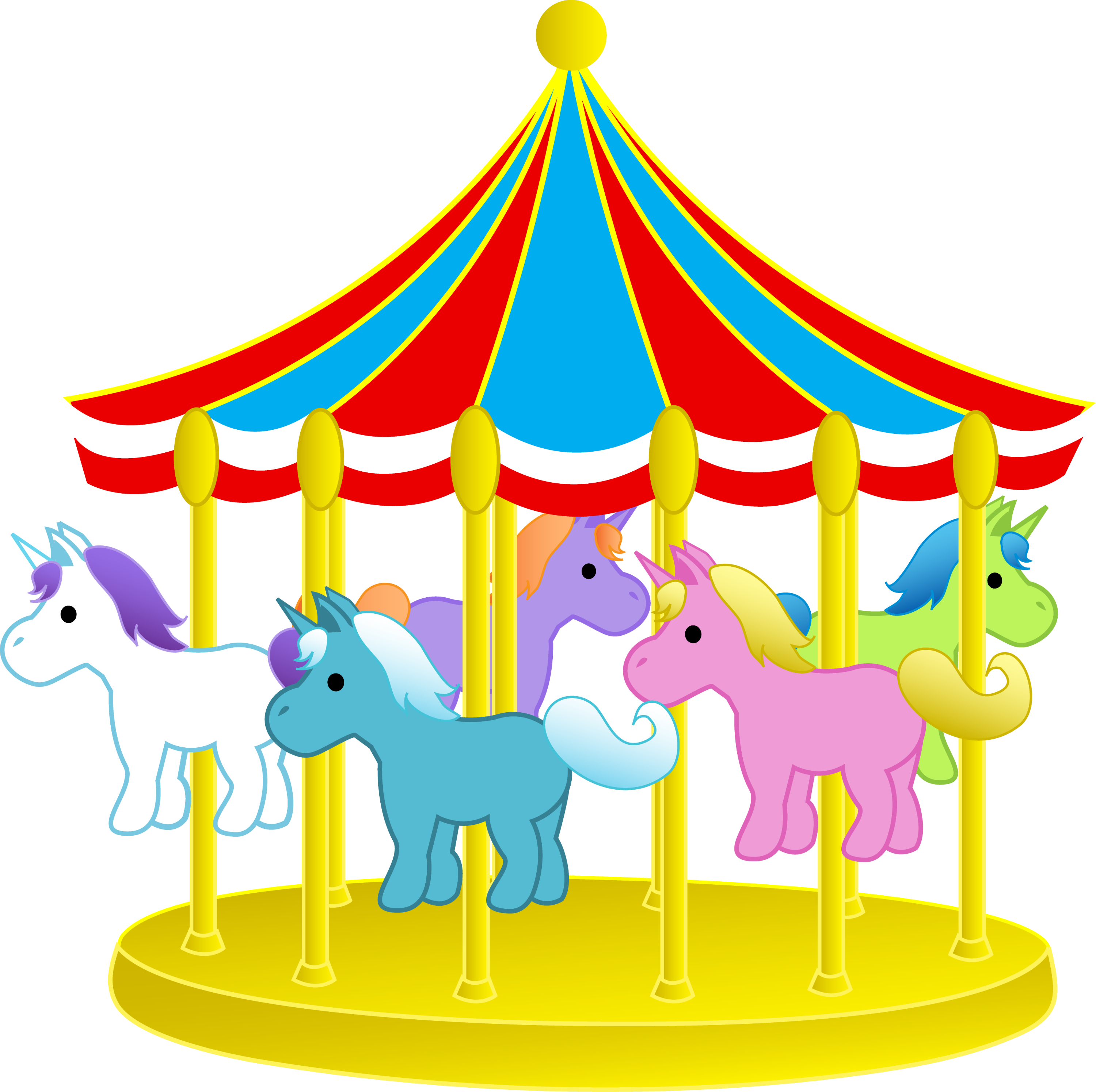 cute carnival carousel with ponies free clip art rh sweetclipart com carousel clip art images carousel clipart