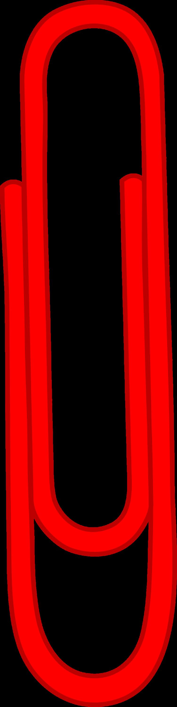 single red paper clip - free clip art