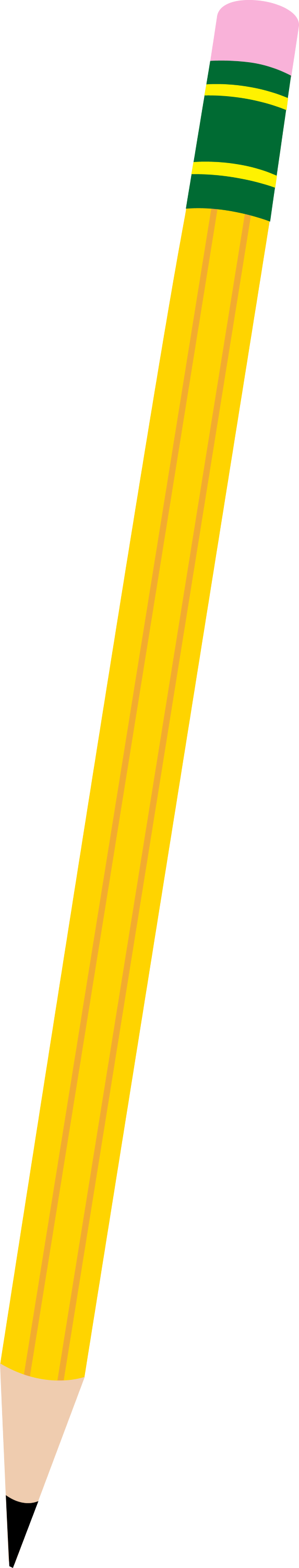 simple yellow pencil free clip art