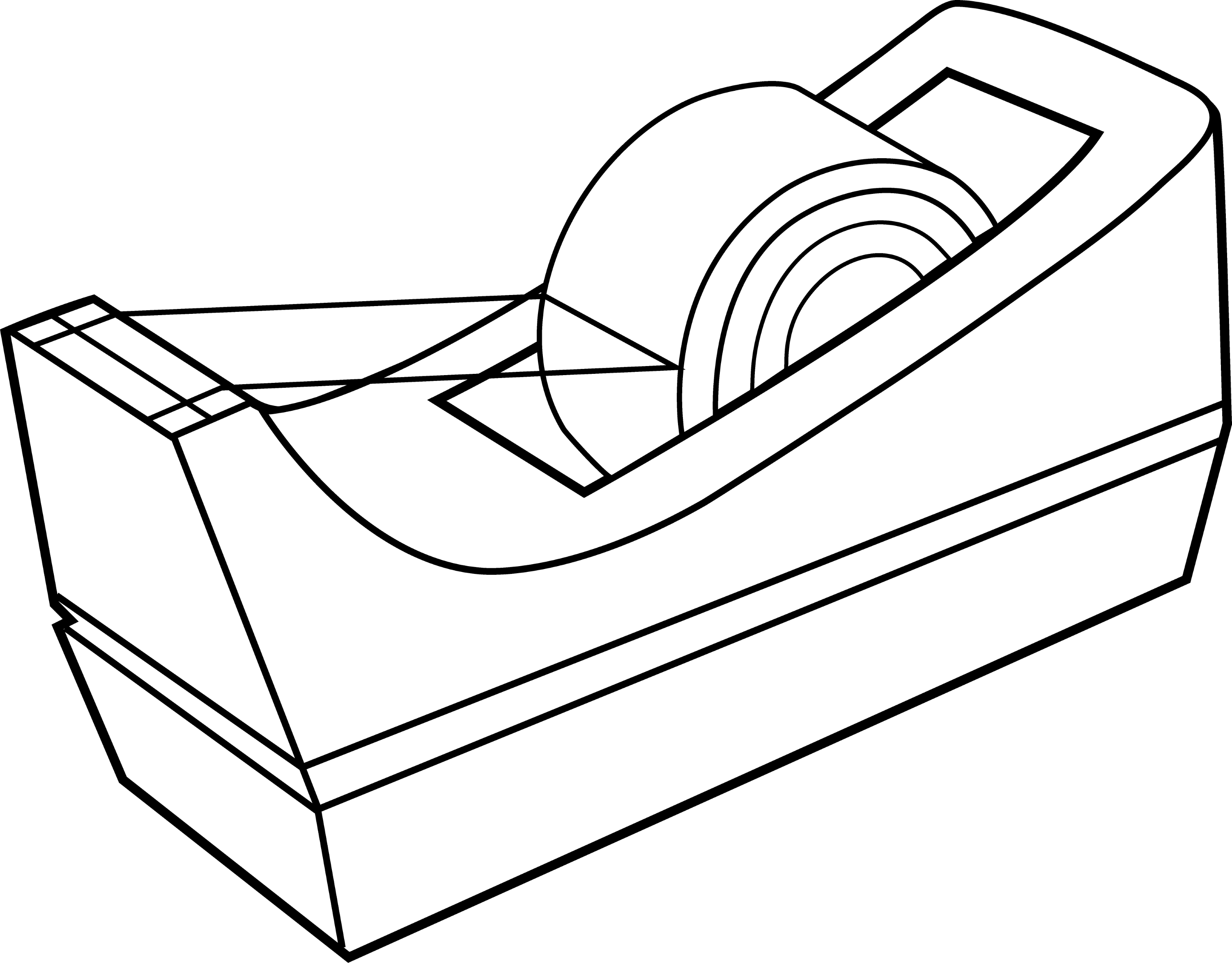 tape dispenser line art free clip art