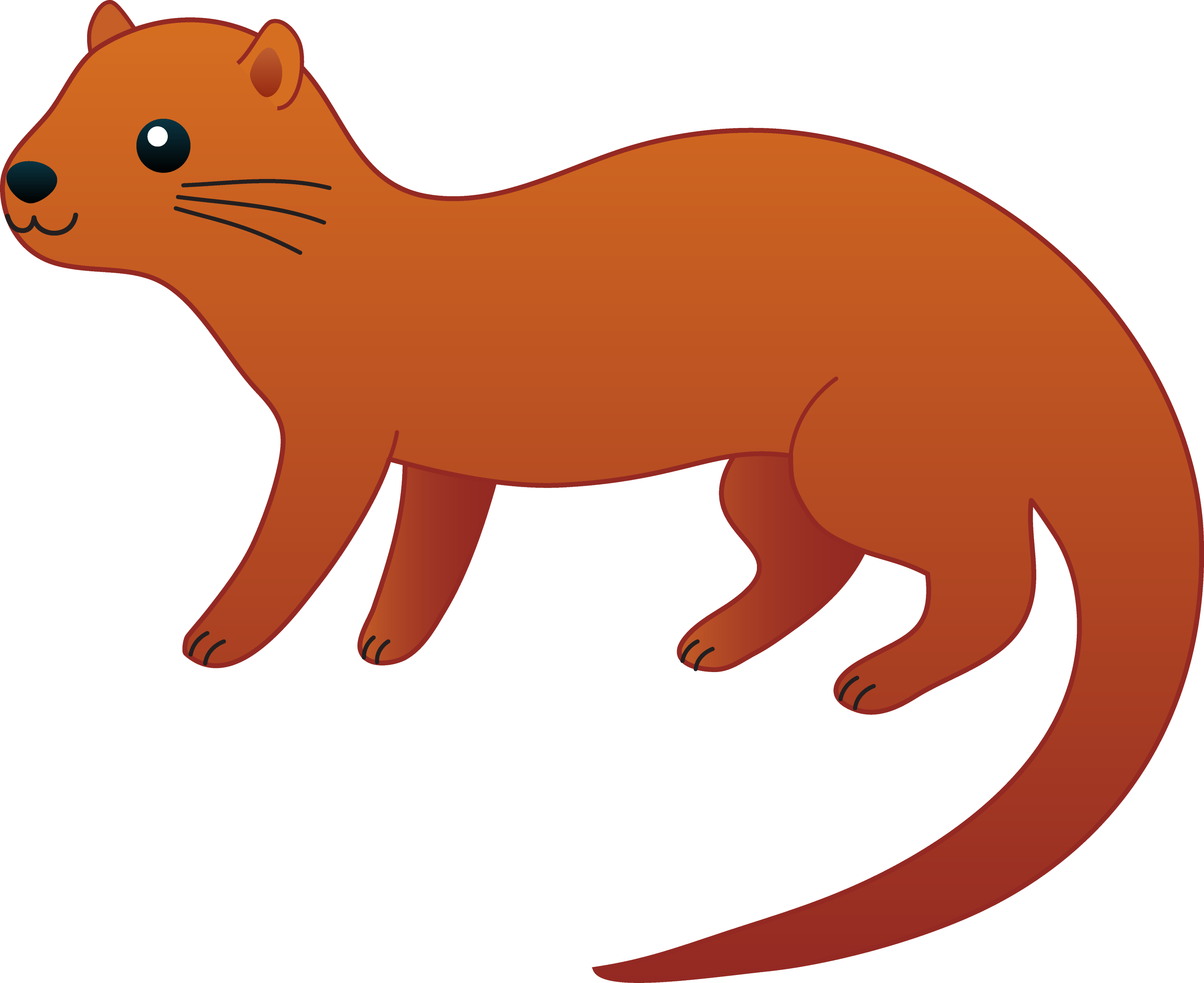 cute brown otter free clip art