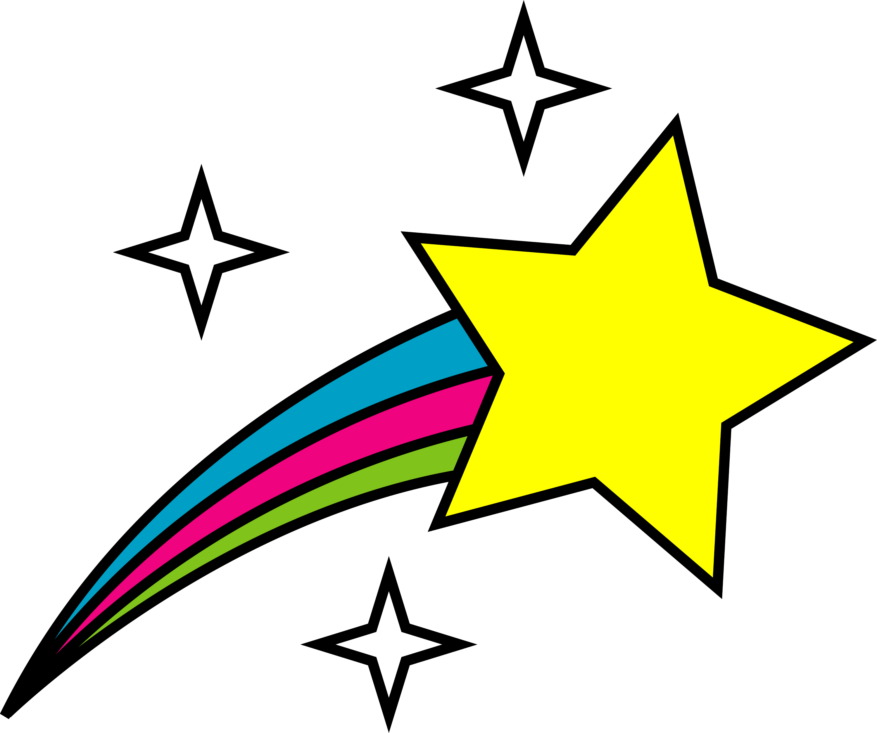 Simple Shooting Star Symbol