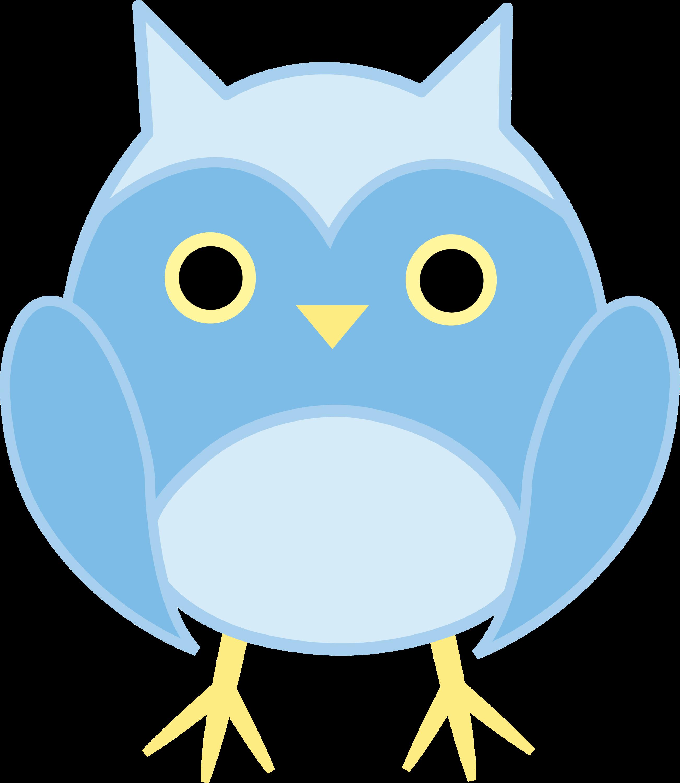 cute blue owl free clip art
