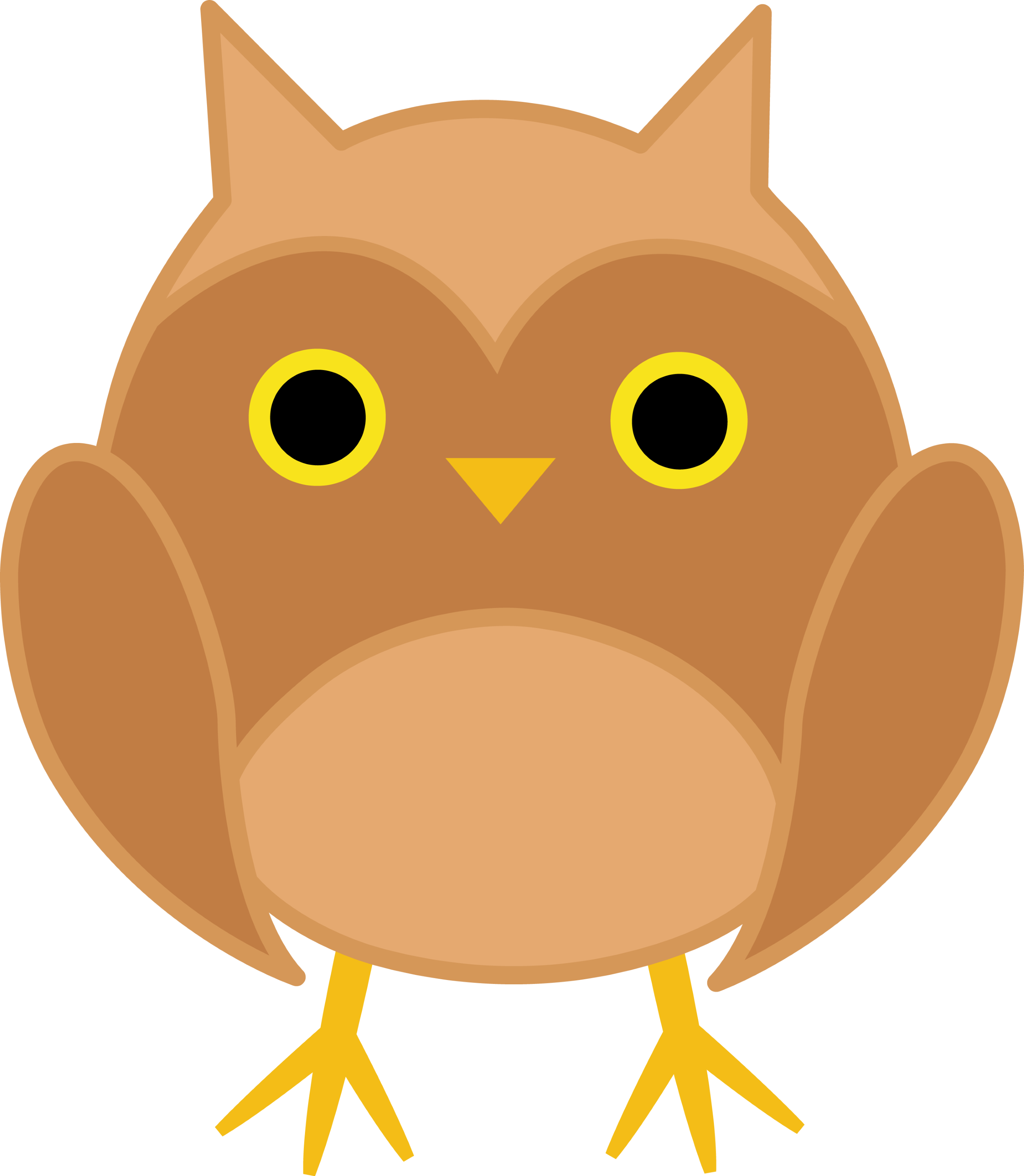 Cute Fall Owl Clip Art Free clip art