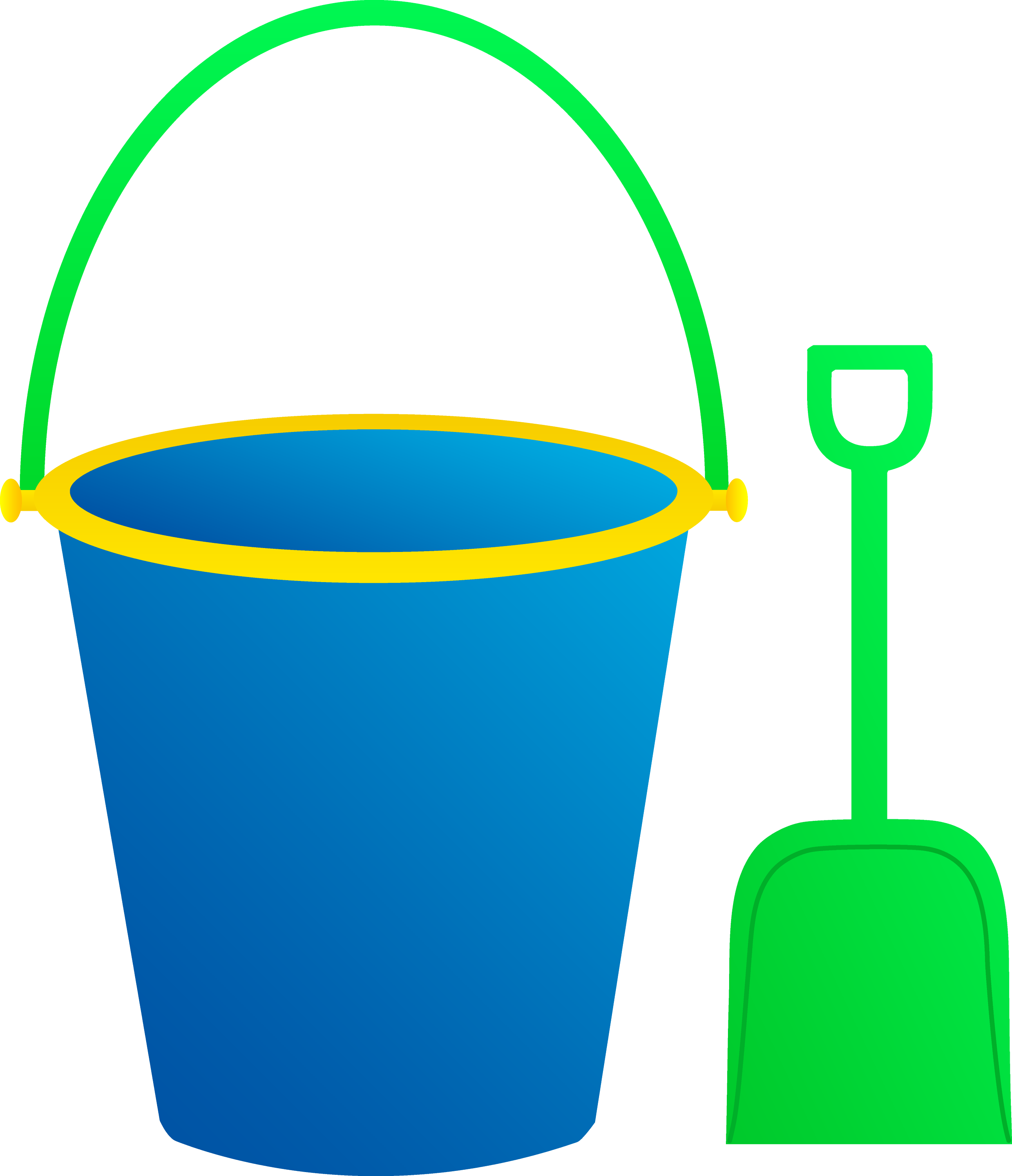 sand bucket and shovel clip art