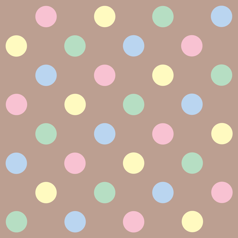 cute pastel polka dots pattern free clip art