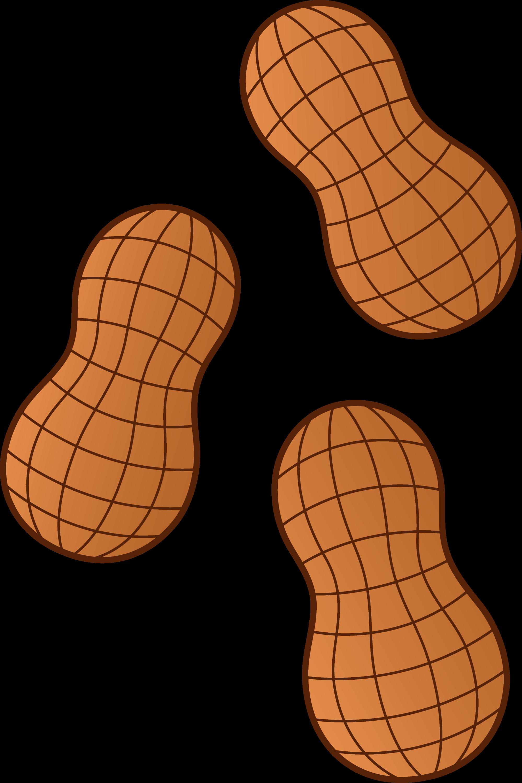 Three Peanuts - Free Clip Art