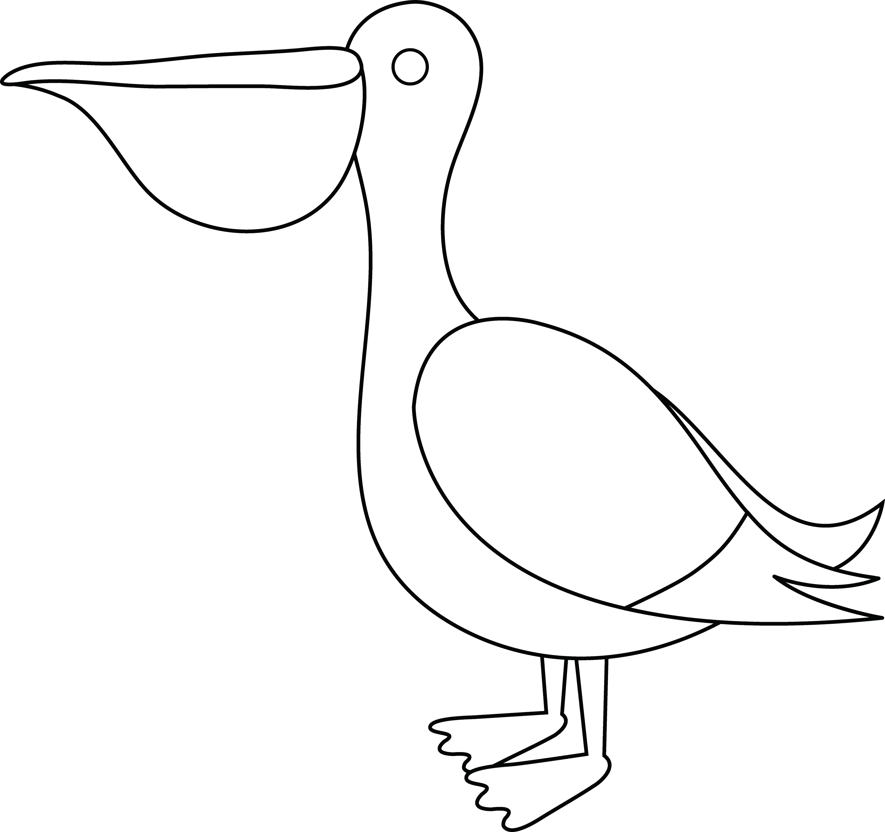 pelican animal coloring pages. Pelican Coloring Page Colorable  Free Clip Art
