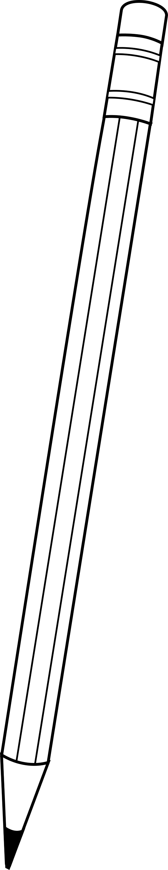 Simple pencil line art free clip art black and white pencil outline voltagebd Image collections